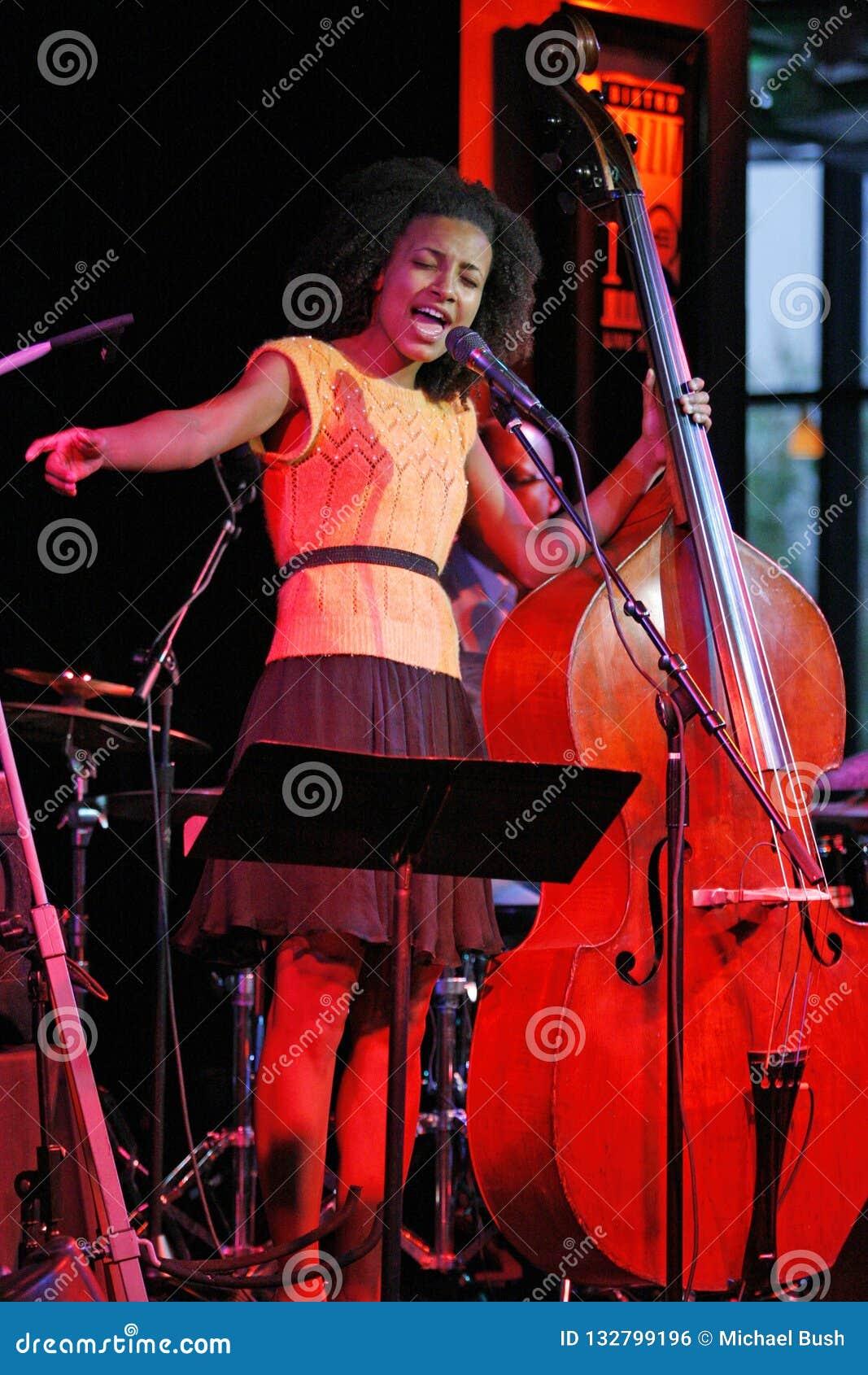 Esperanza Spalding Performs In Concert Editorial Photo