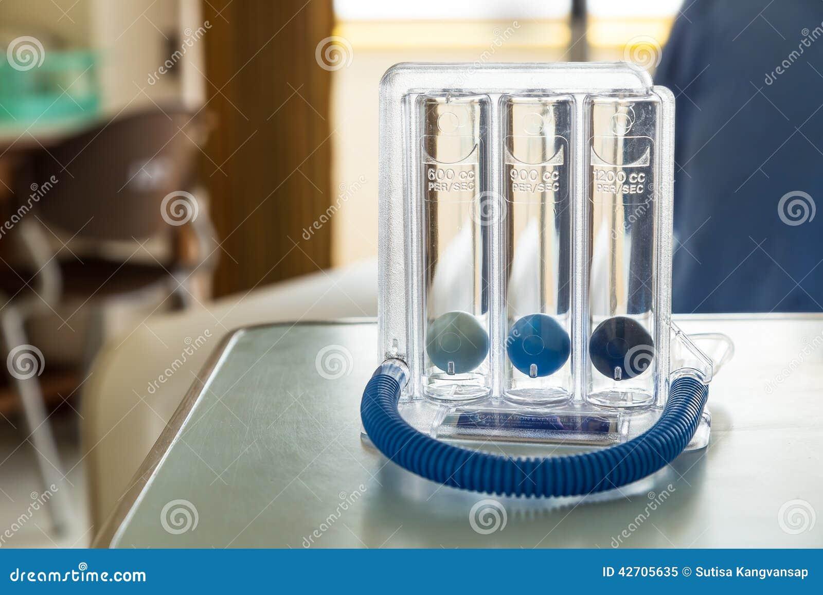 Espirómetro incentivo de tres bolas para profundamente respirar