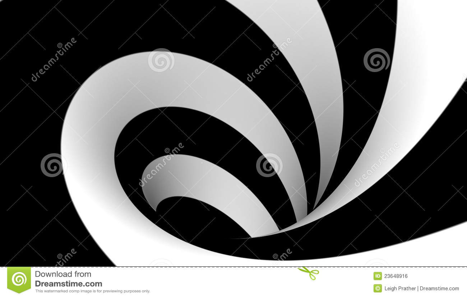 Espiral blanco y negro abstracto imagen de archivo libre for Aparador blanco y negro