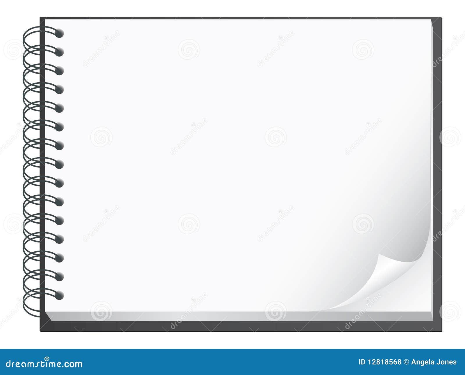 Espiral - ilustración encuadernada de la pista de nota