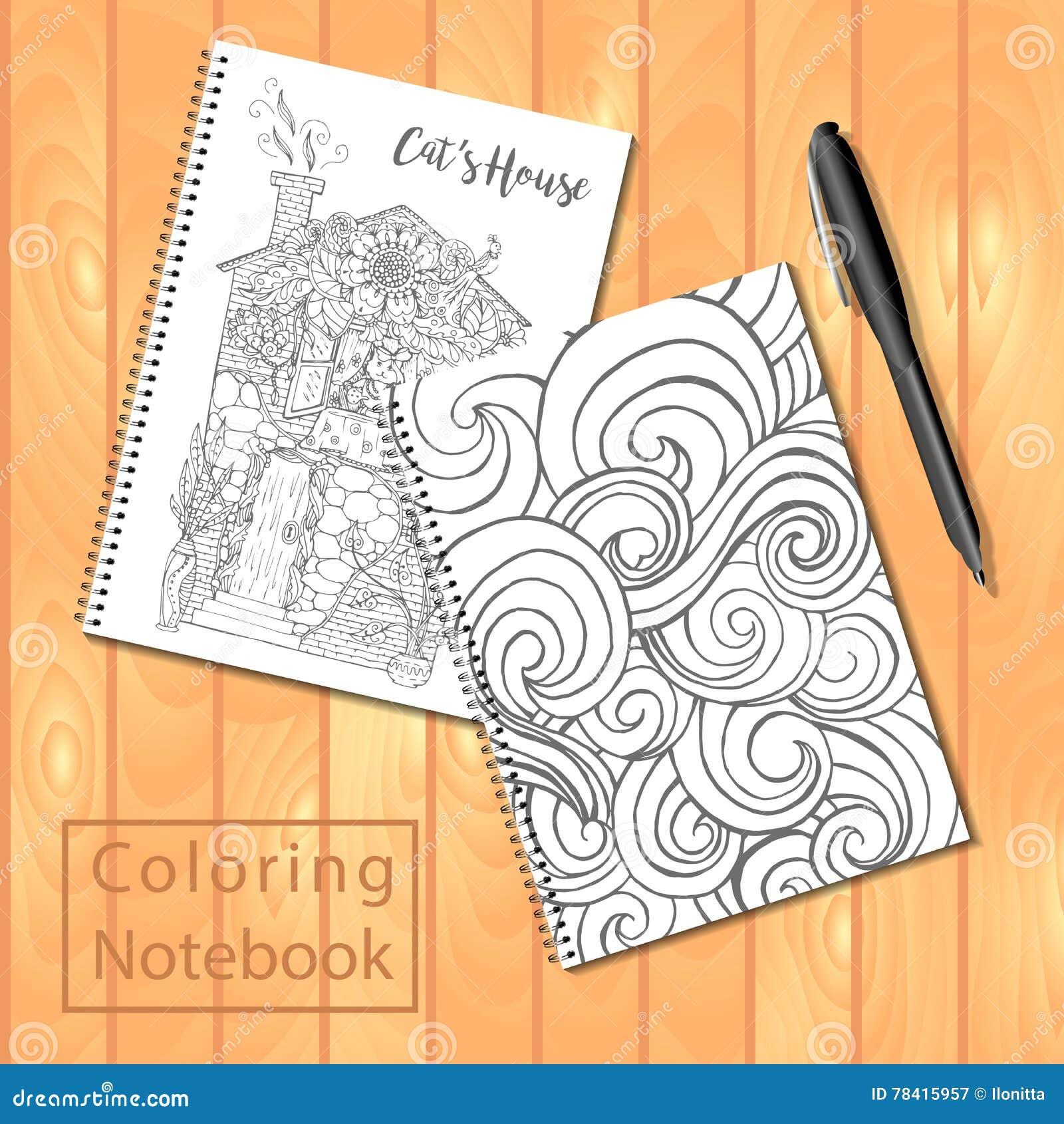Espiral - Libretas O Libro De Colorear Encuadernadas Con La Pluma Y ...