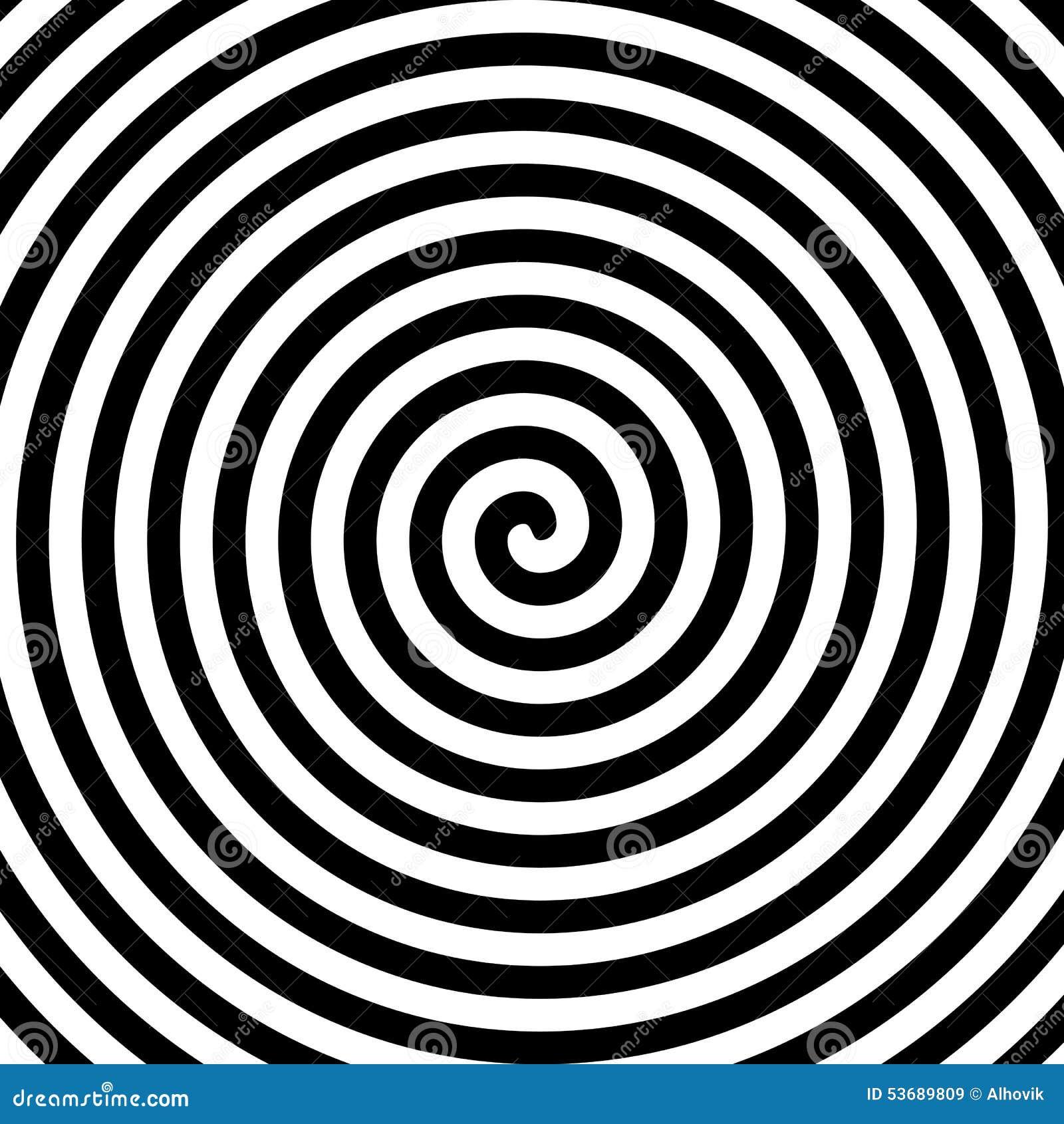 Espiral preto e branco da hipnose
