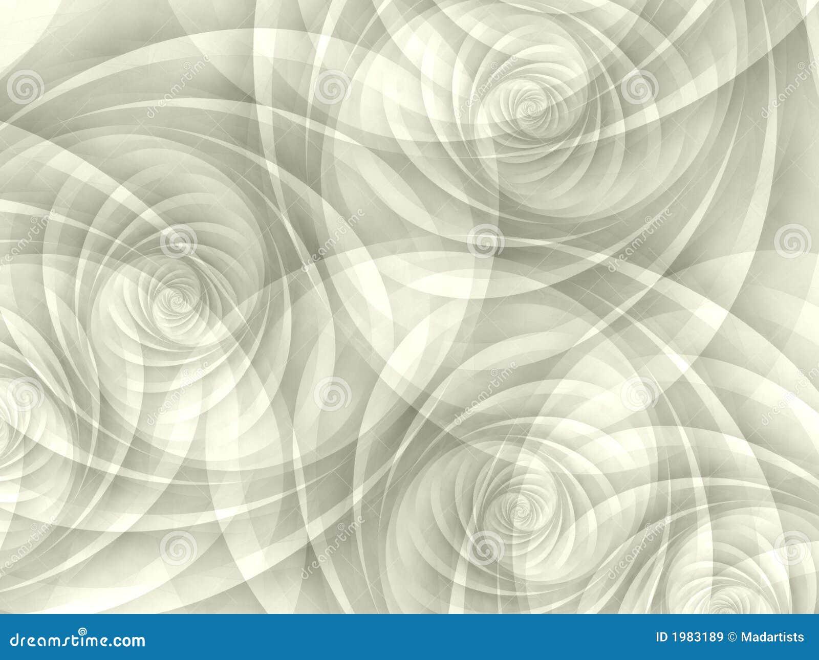 Espirales opacos blancos de los remolinos