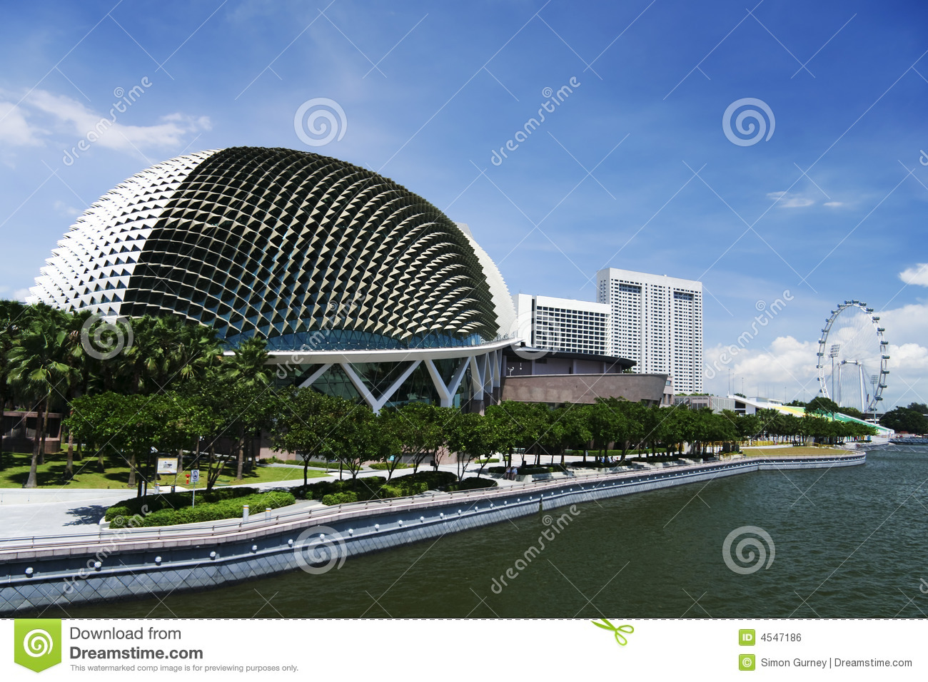 Download Esplanade Theatres On The Bay Singapore Stock Photo - Image of horizontal, cladding: 4547186
