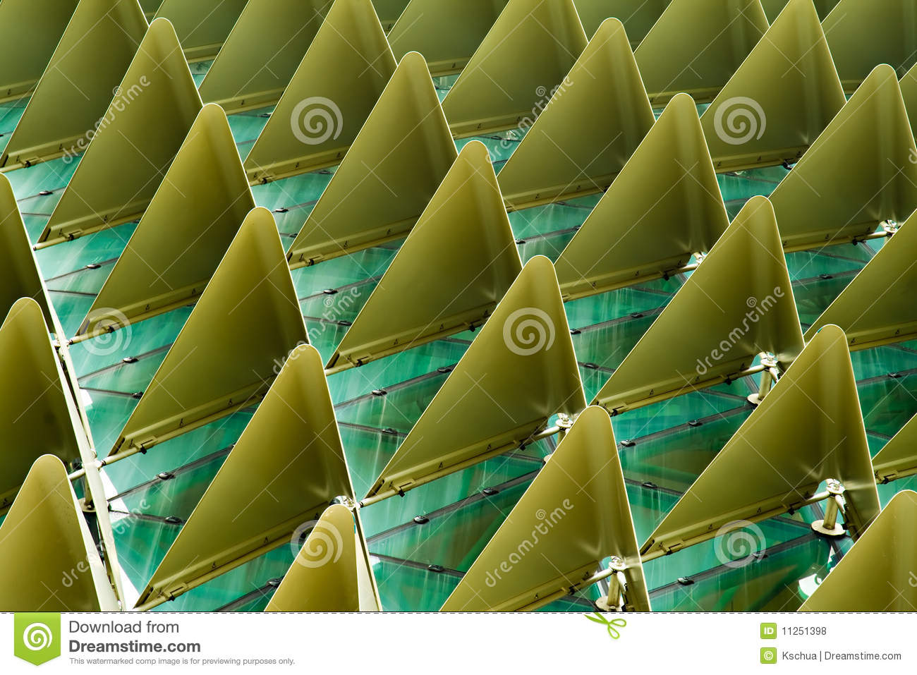 Triangular shades on roof royalty free stock image for Roof right