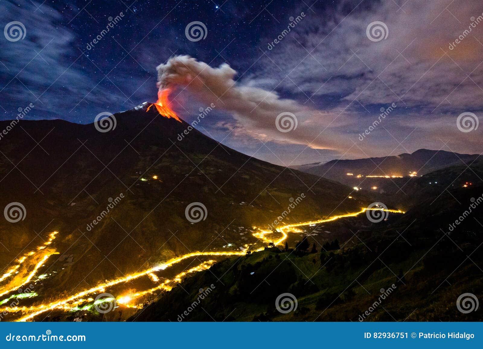 Esplosione del vulcano di Tungurahua