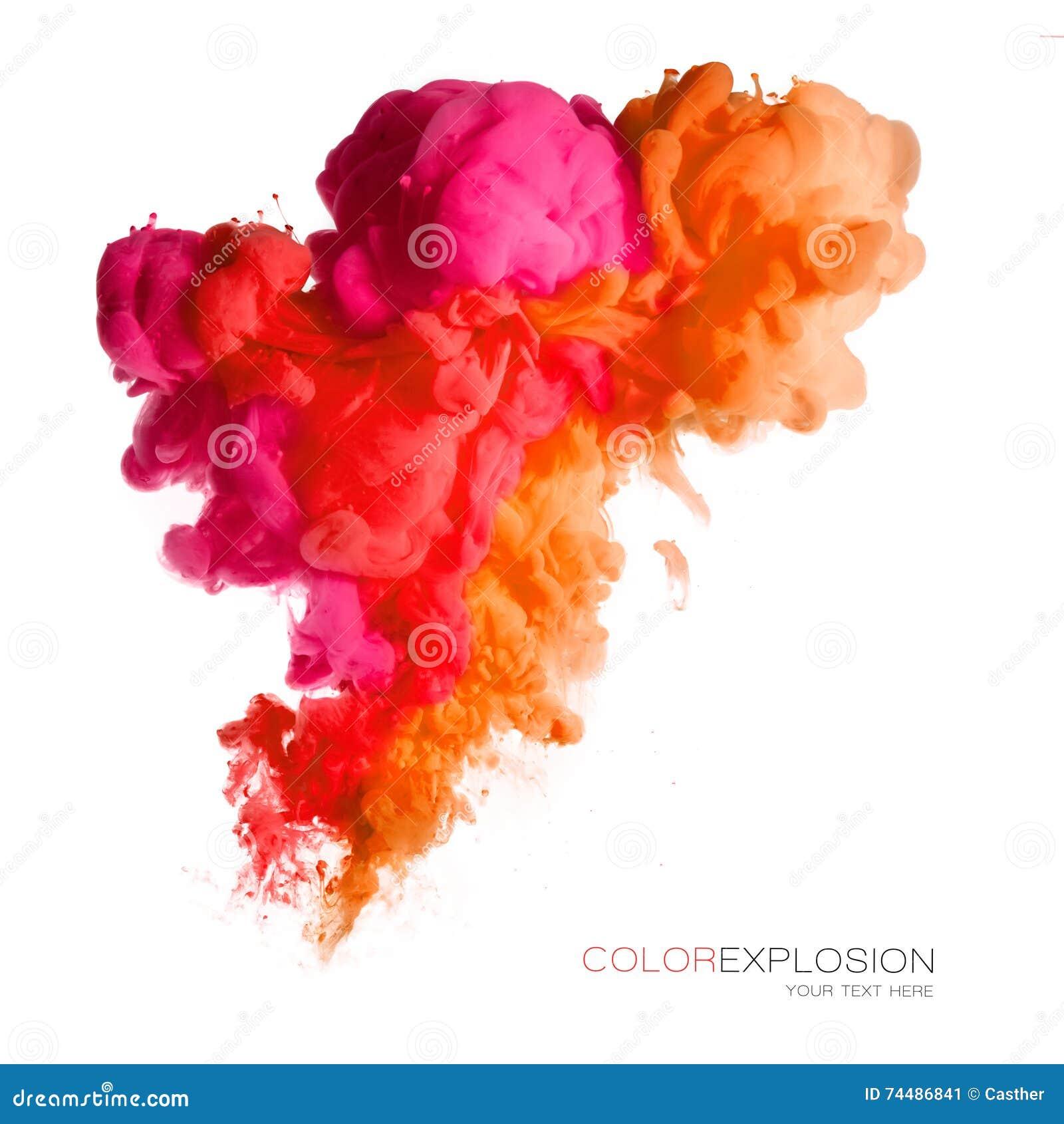 Esplosione di colore Inchiostro acrilico variopinto in acqua