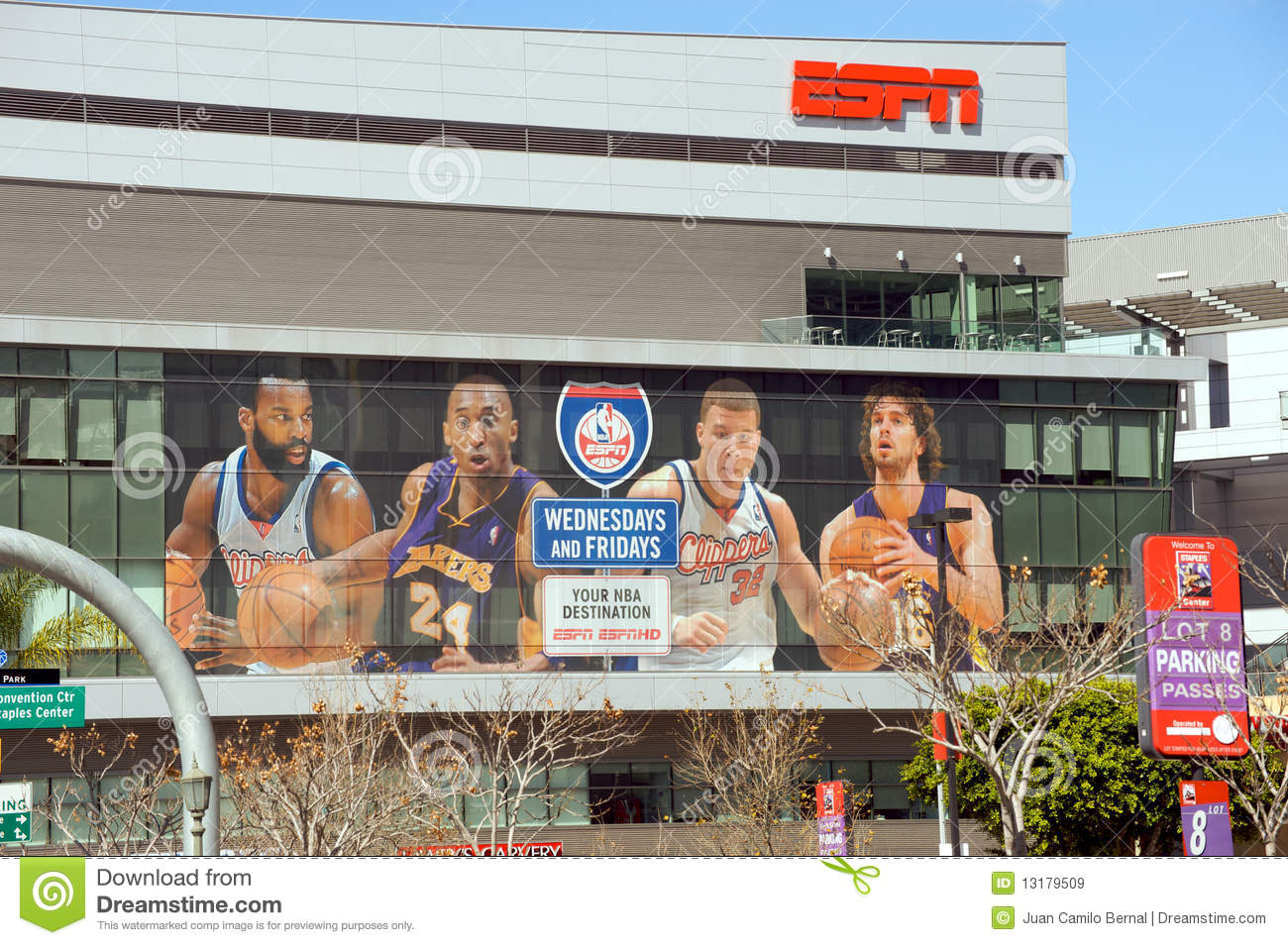 Espn at the staples center editorial stock image image for Staples bernal