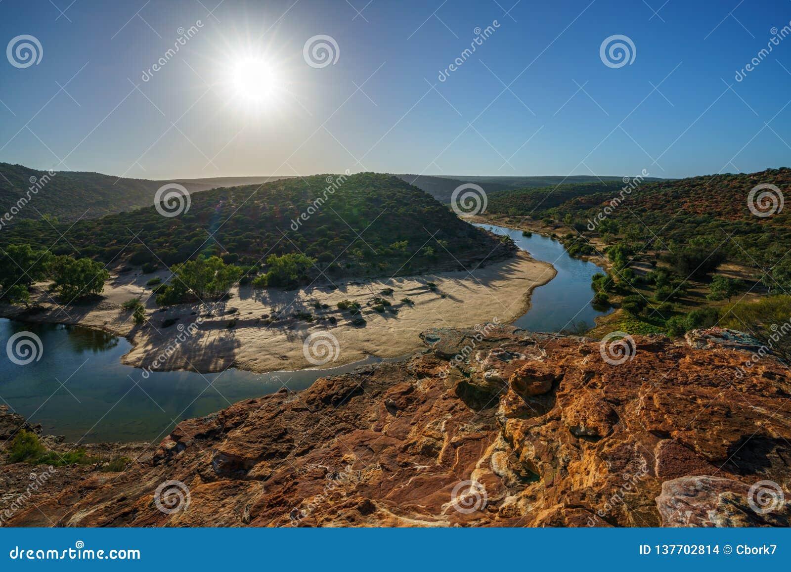 Esponga al sole sopra la traccia del ciclo della finestra delle nature, il parco nazionale di kalbarri, l Australia occidentale 6