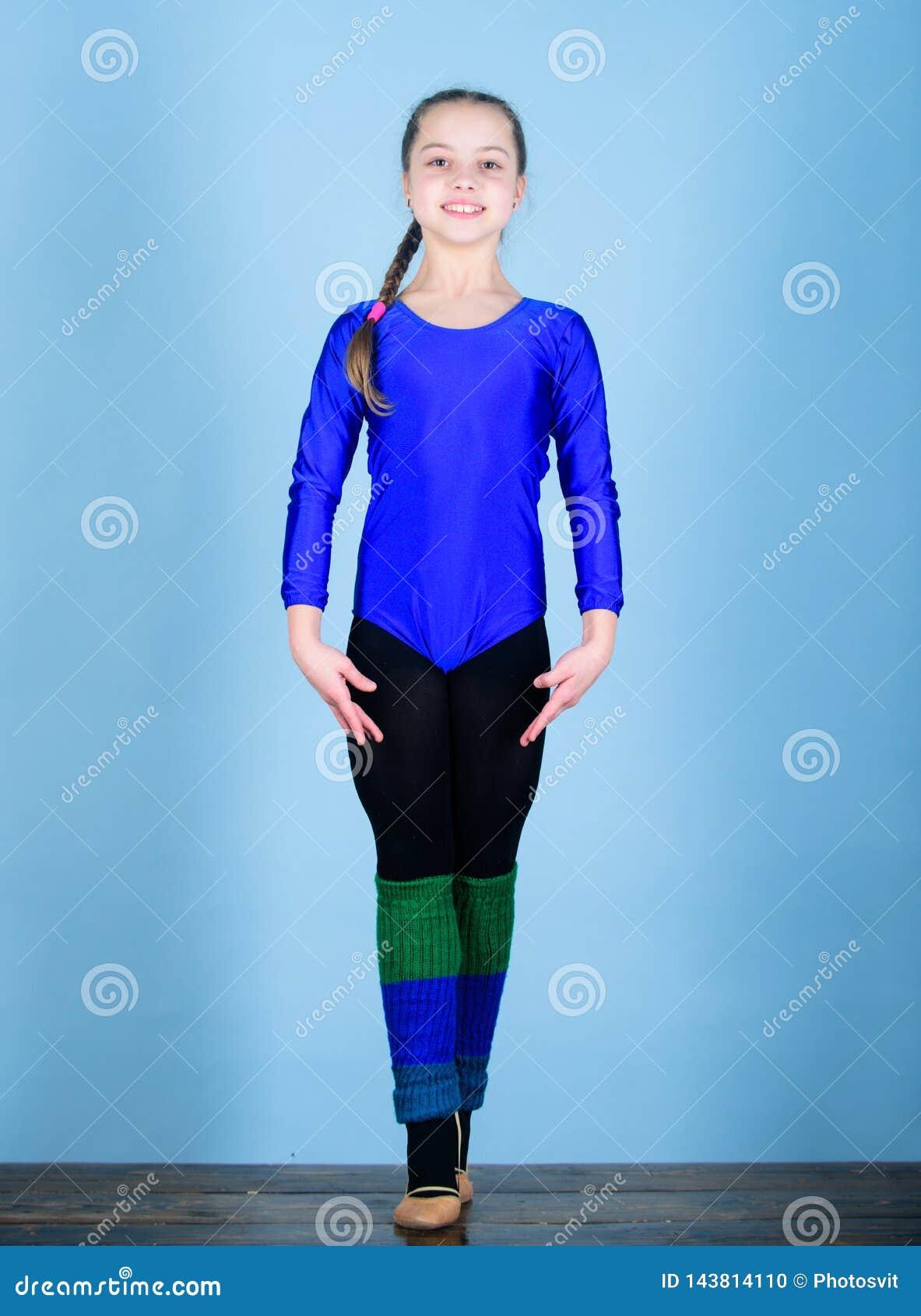 Esporte e saúde Ilustração do bailado dancer gymnastics Desportista feliz da criança Dieta da aptidão Energia Exercício do gym da