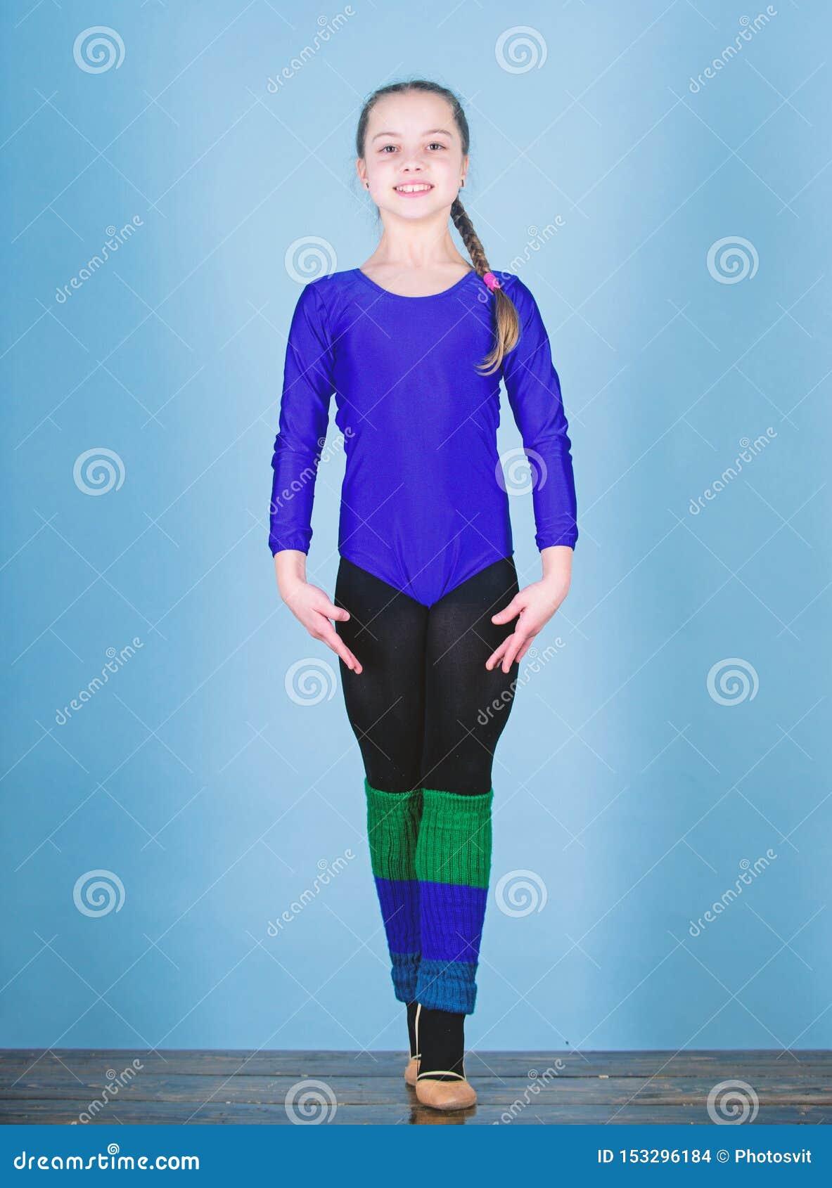 Esporte e sa?de Ilustra??o do bailado dancer gymnastics Desportista feliz da crian?a Dieta da aptid?o Energia Exerc?cio do gym da