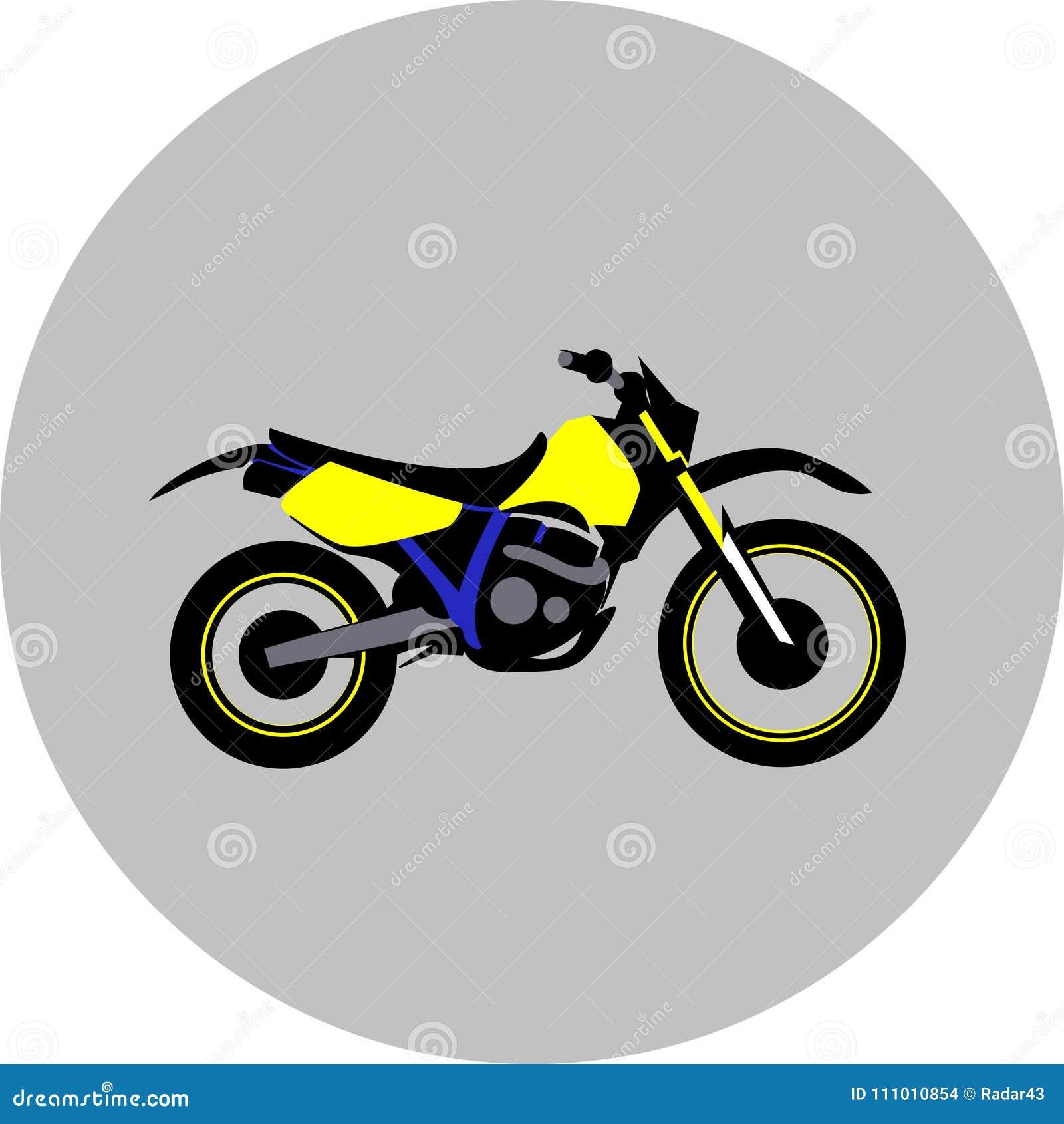 Esporte Offroad Da Motocicleta Ilustracao Do Vetor Ilustracao De Motocicleta Offroad 111010854