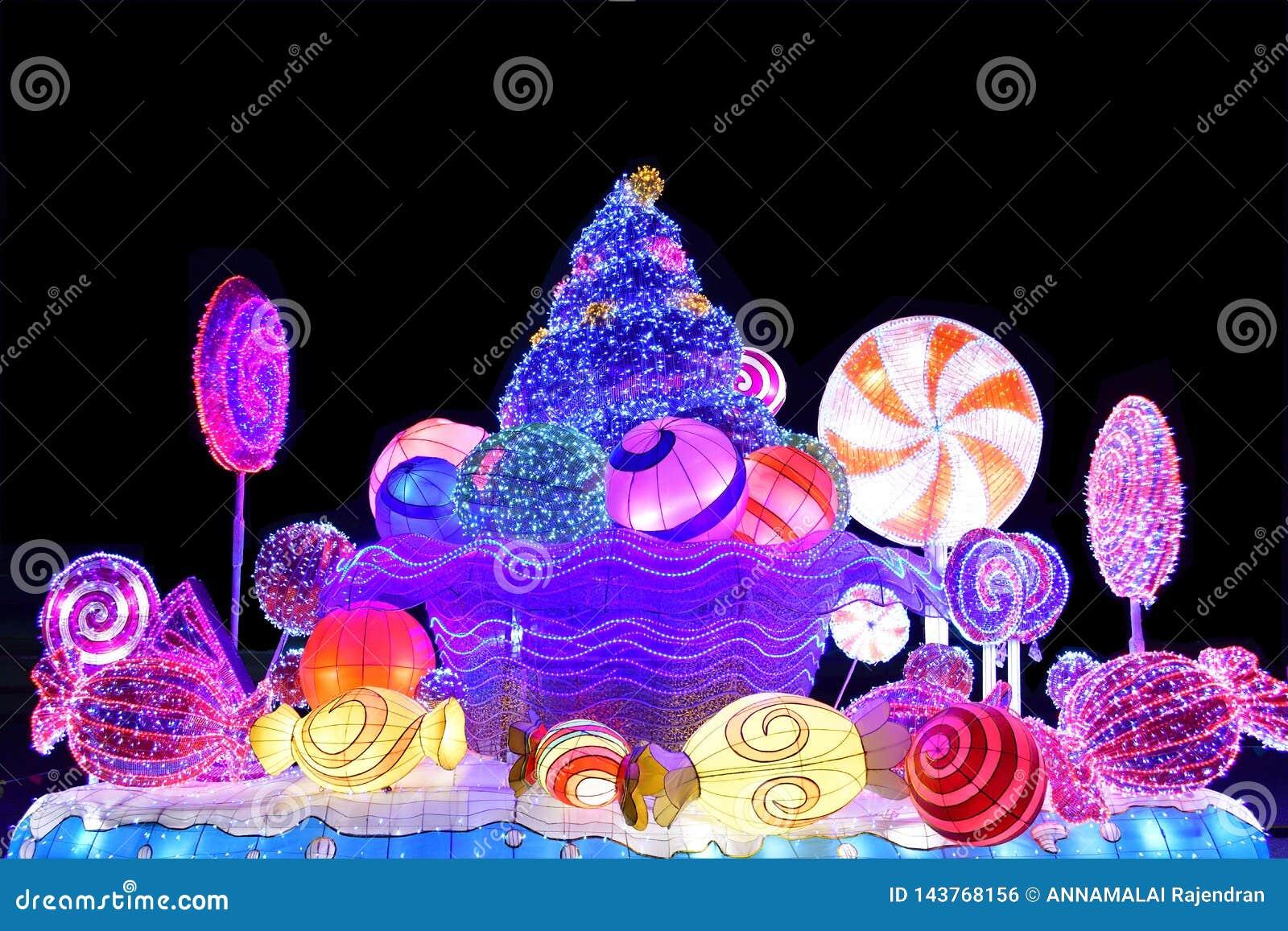 Esposizione decorativa delle luci di Natale di inverno di Candy Antivari