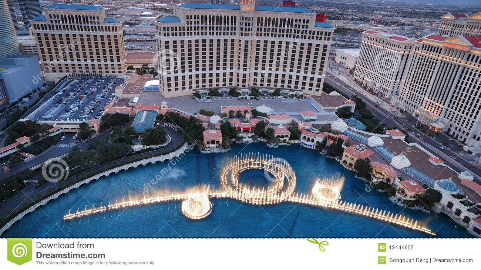 Esposizione della fontana di Bellagio, Las Vegas