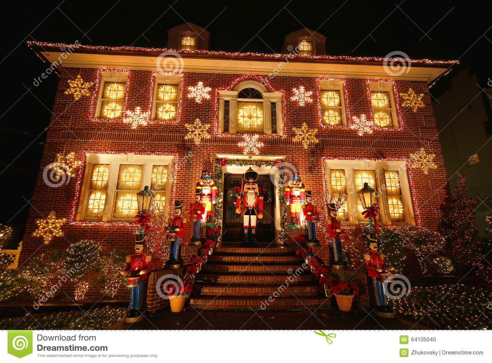 esposizione delle luci della decorazione della casa di