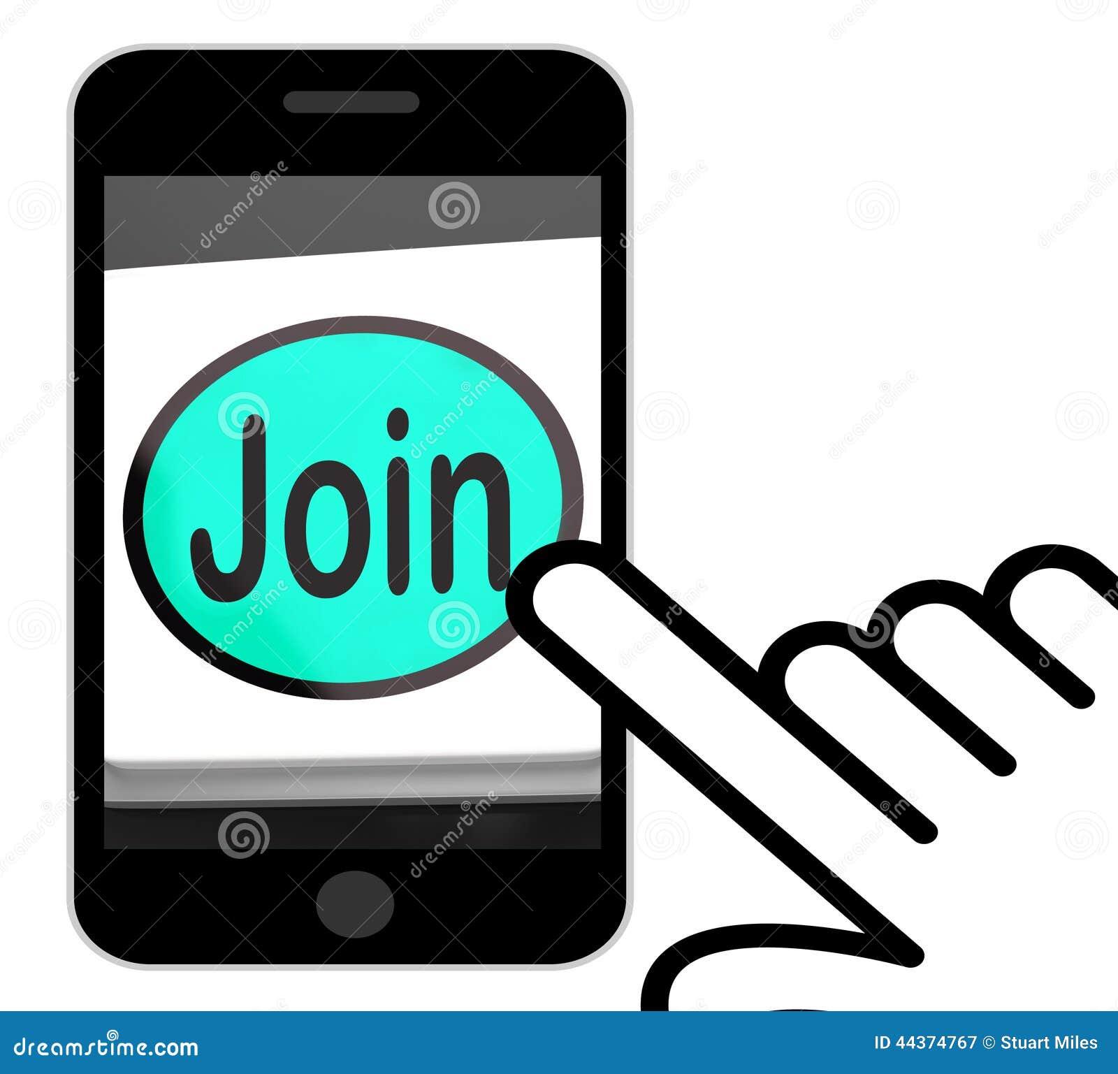 Esposizioni del bottone dell unire che sottoscrivono appartenenza o registrazione