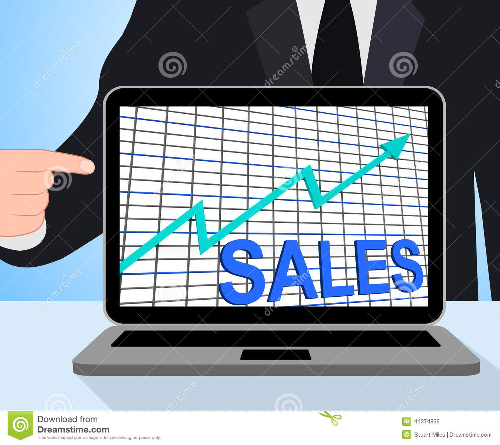 Esposizioni del grafico del grafico di vendite che aumentano commercio di profitti