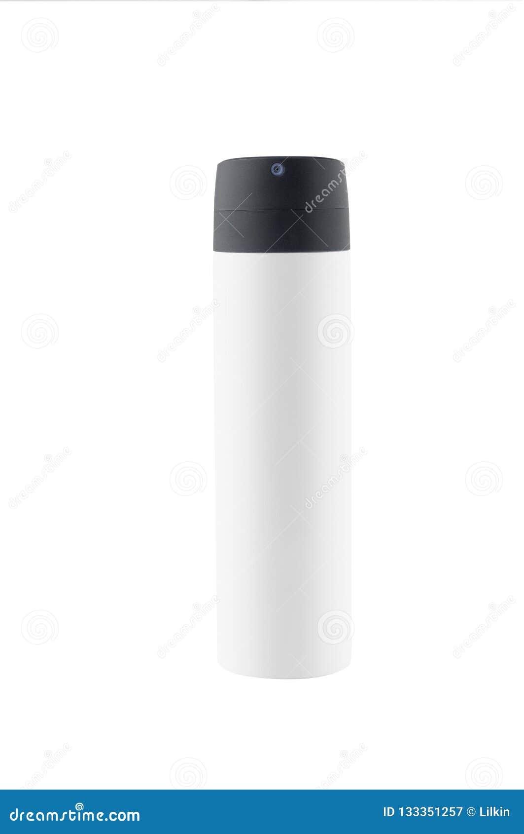 Espray antitranspirante del desodorante aislado en blanco