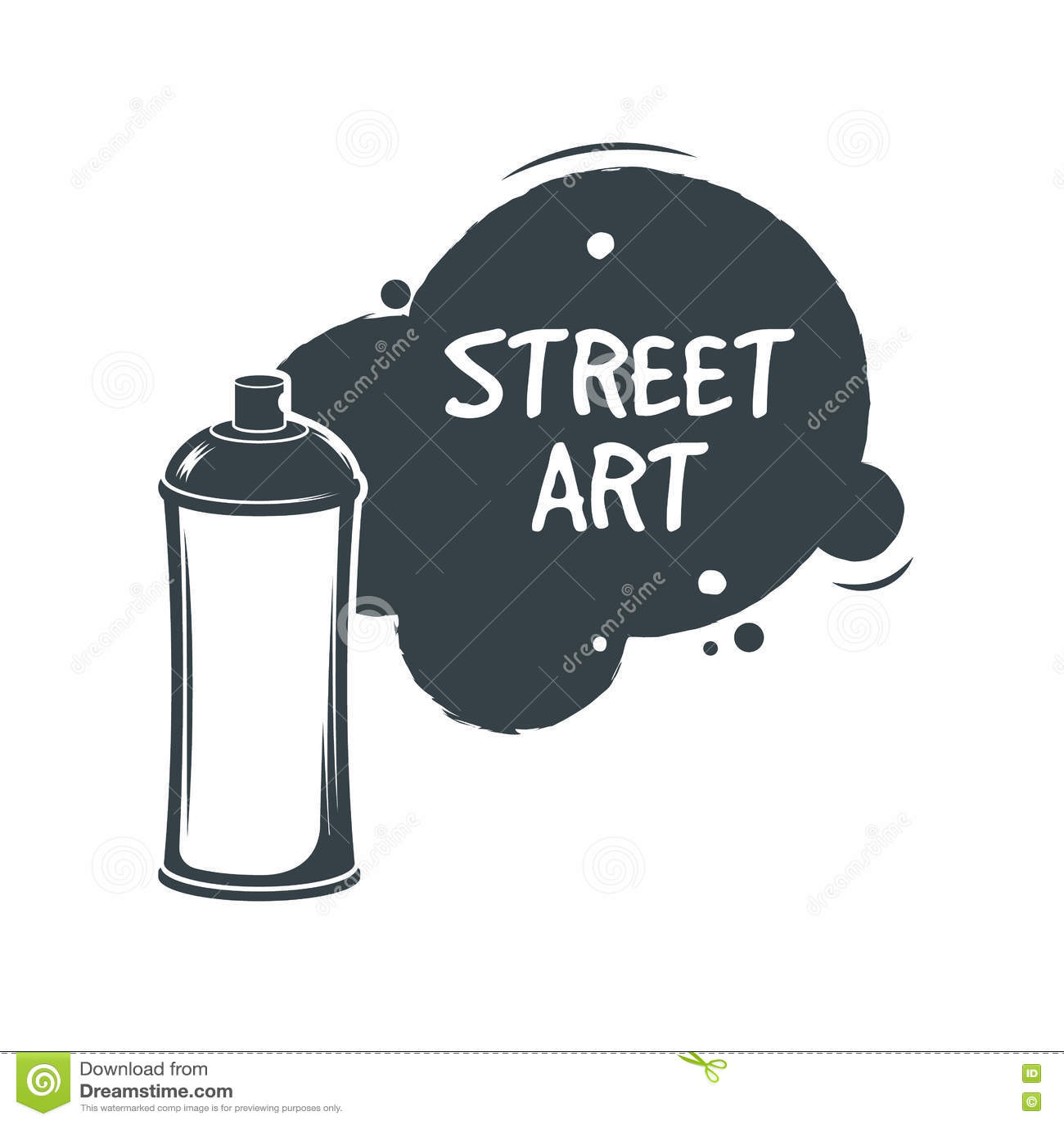 Espray de la pintura de la pintada del aerosol Concepto del arte de Stree sticker Ilustración del vector Estilo de la pintada