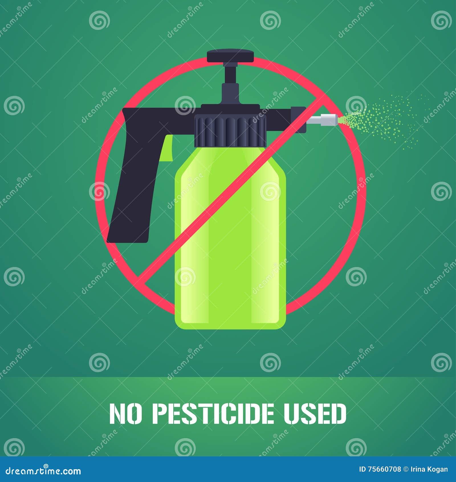 Espray del pesticida en el ejemplo del vector de la muestra de la prohibición