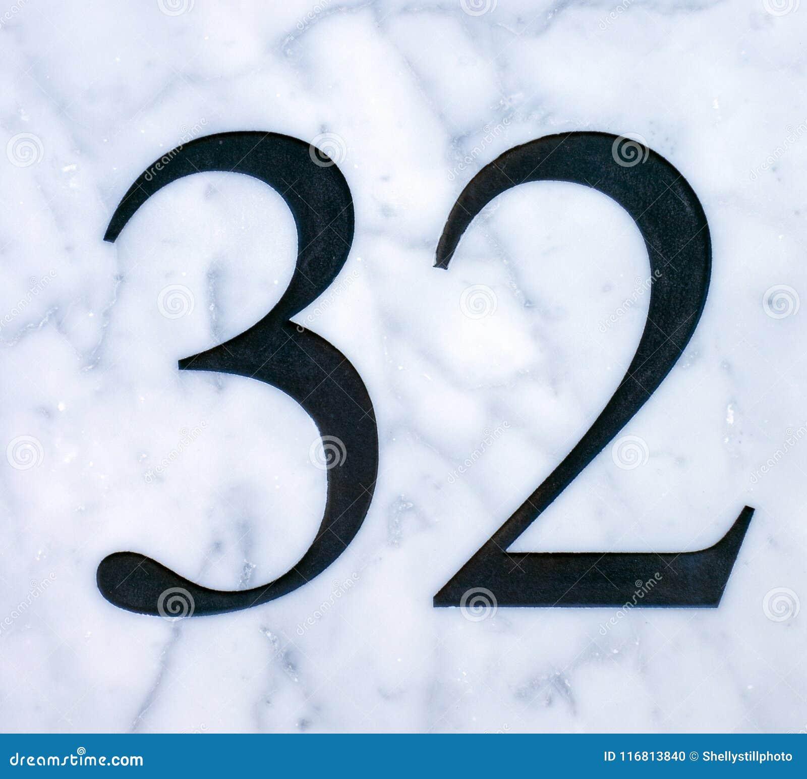 Espressione scritta nello stato afflitto numero trovato tipografia 32 trentadue