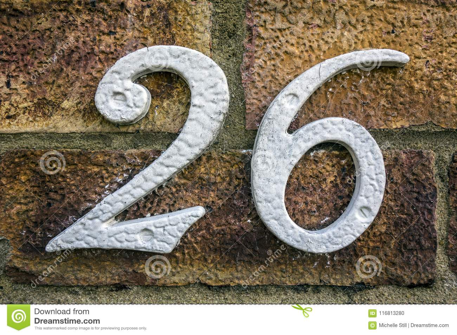 Espressione scritta nello stato afflitto numero trovato tipografia 26 ventisei