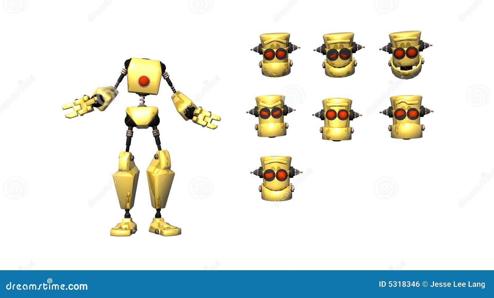 Download Espressioni Del Robot Del Fumetto Illustrazione di Stock - Illustrazione di wallpaper, cyborg: 5318346