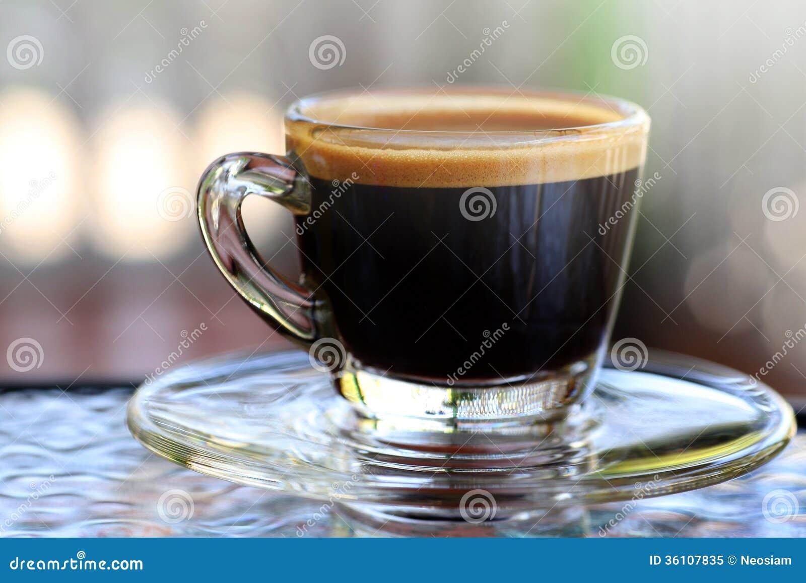 Espresso Coffee Glass ~ Espresso coffee stock image of
