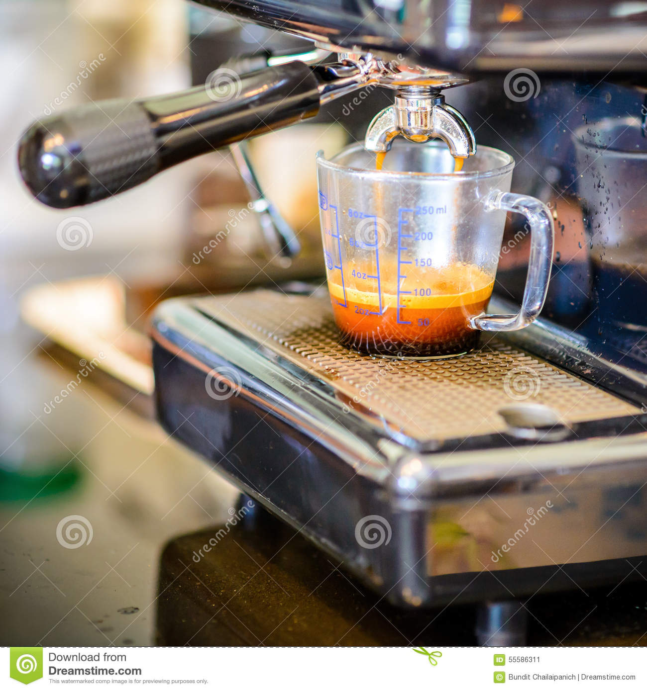 Espresso coffee machine stock photo image 55586311 - Machine a cafe vintage ...