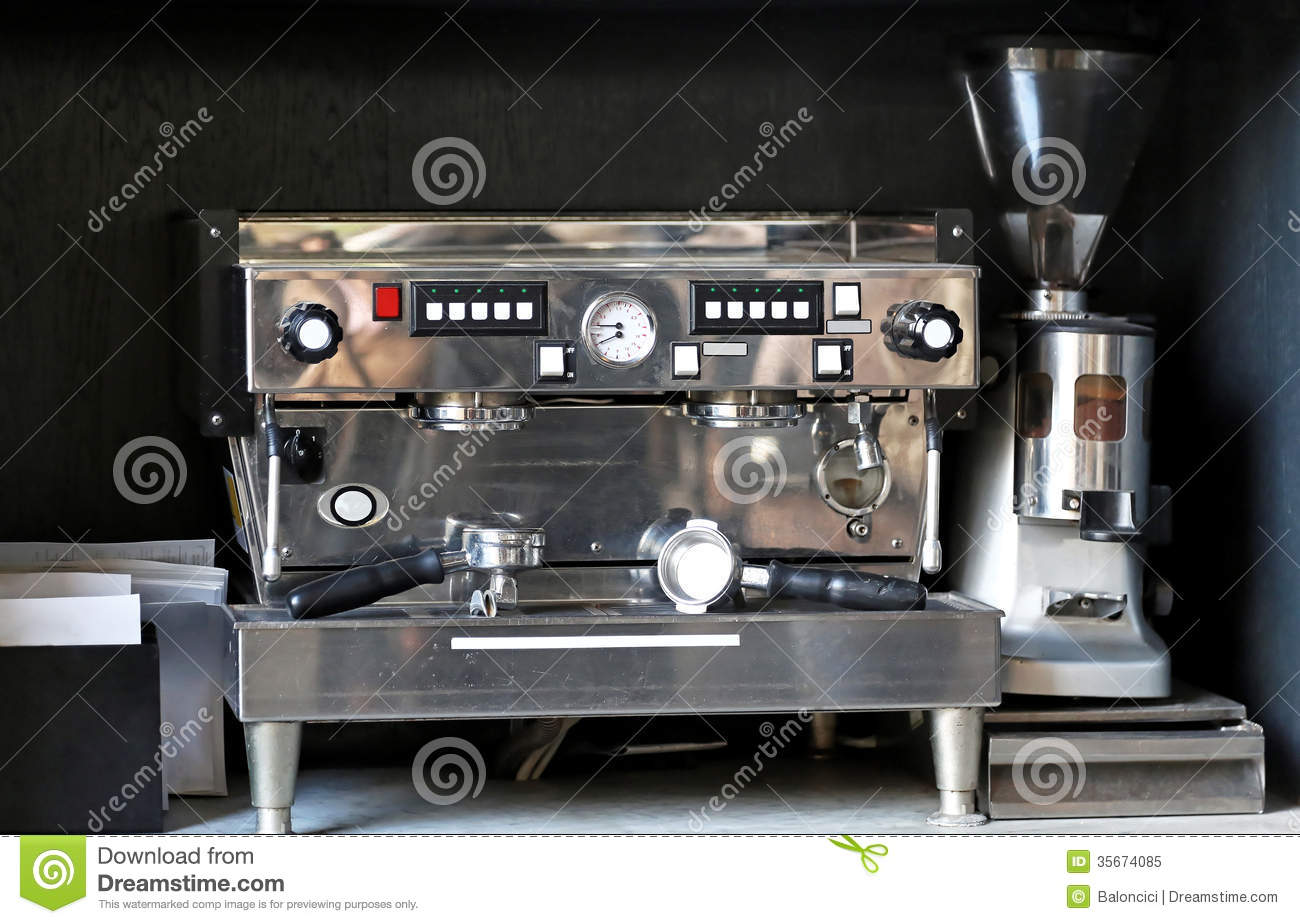 espresso coffee machine stock image image of appliance. Black Bedroom Furniture Sets. Home Design Ideas