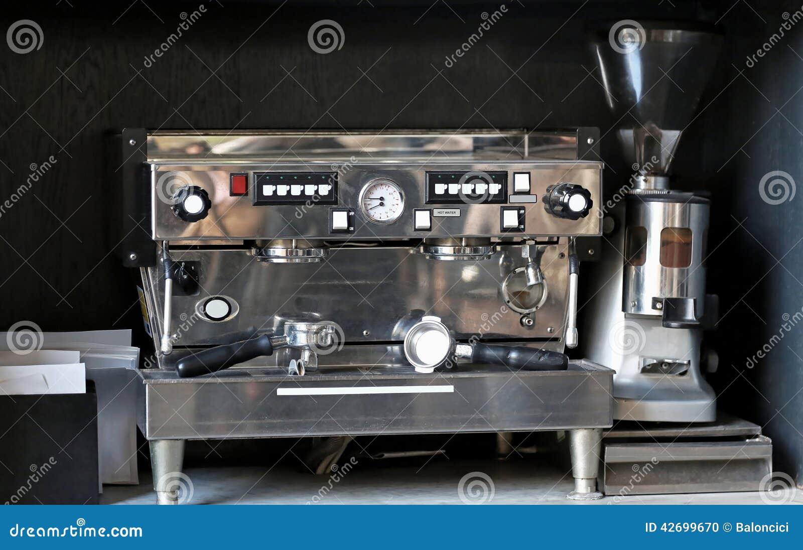 espresso coffee machine stock photo image 42699670. Black Bedroom Furniture Sets. Home Design Ideas