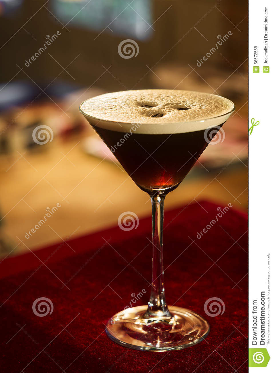Espresso expresso coffee martini cocktail
