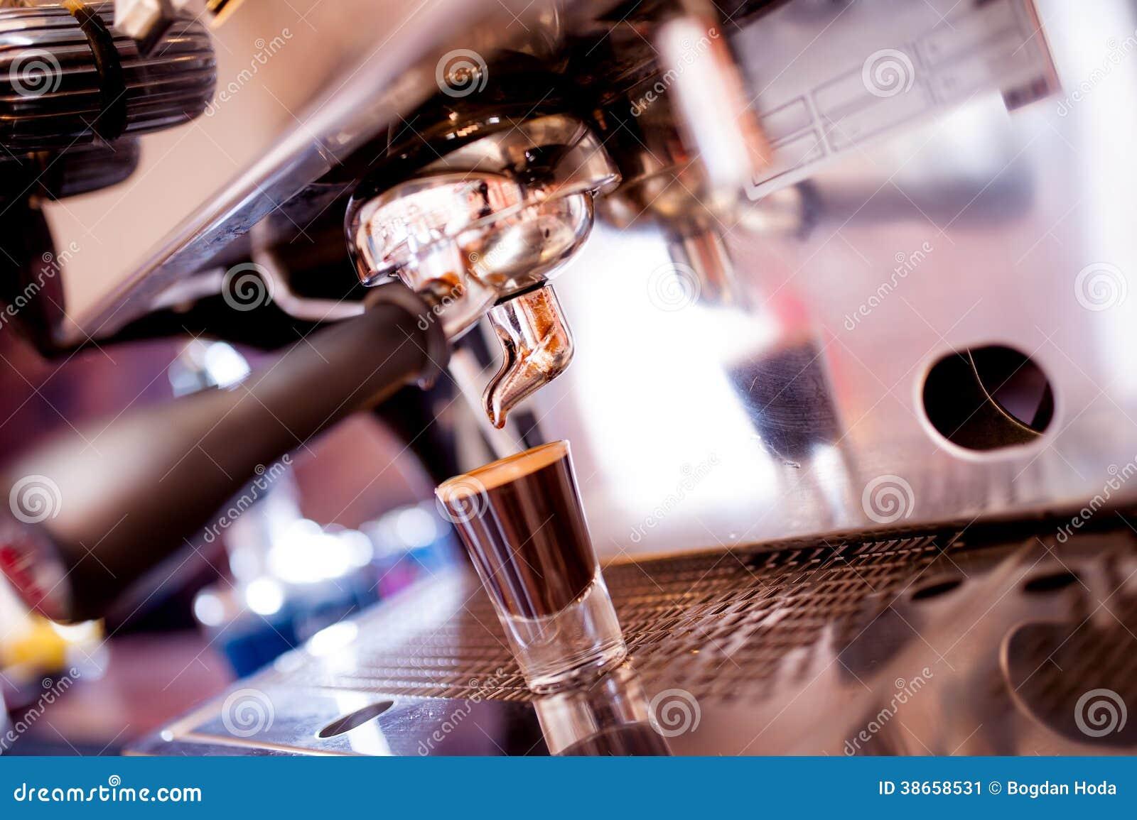 Espresso machine making special coffee