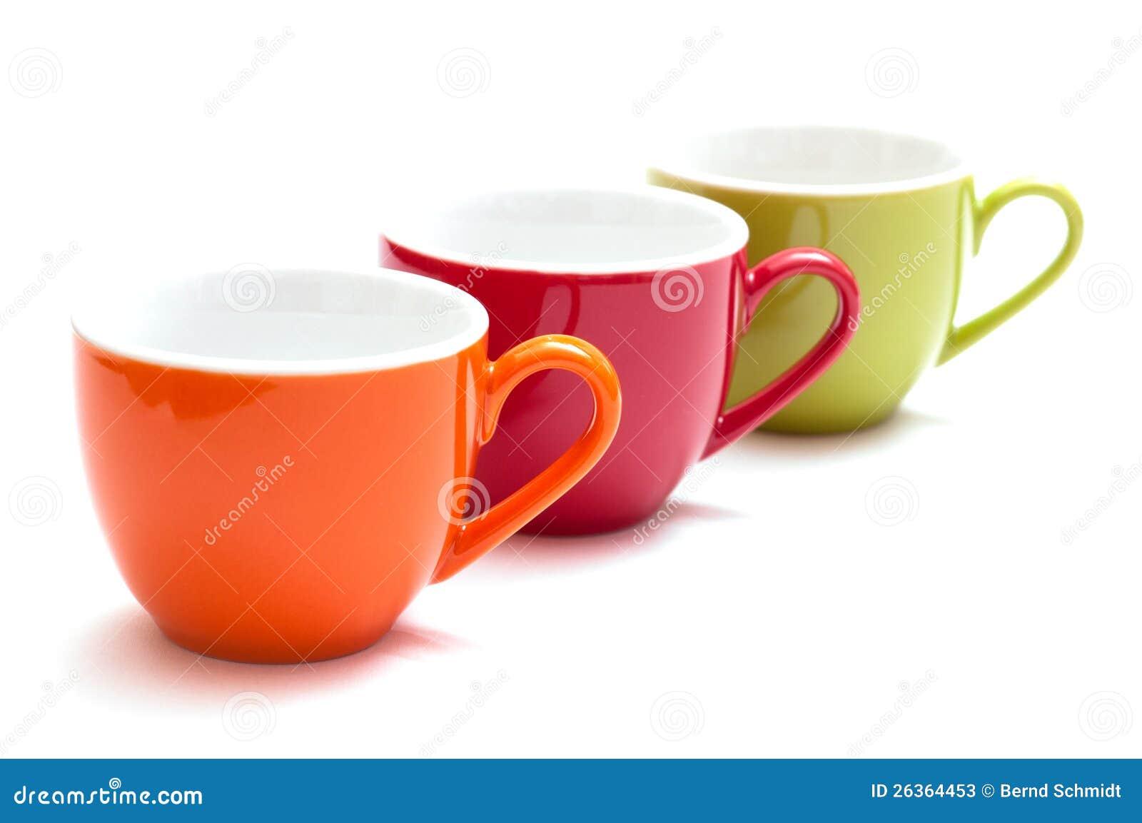 Espressocup in einer Reihe