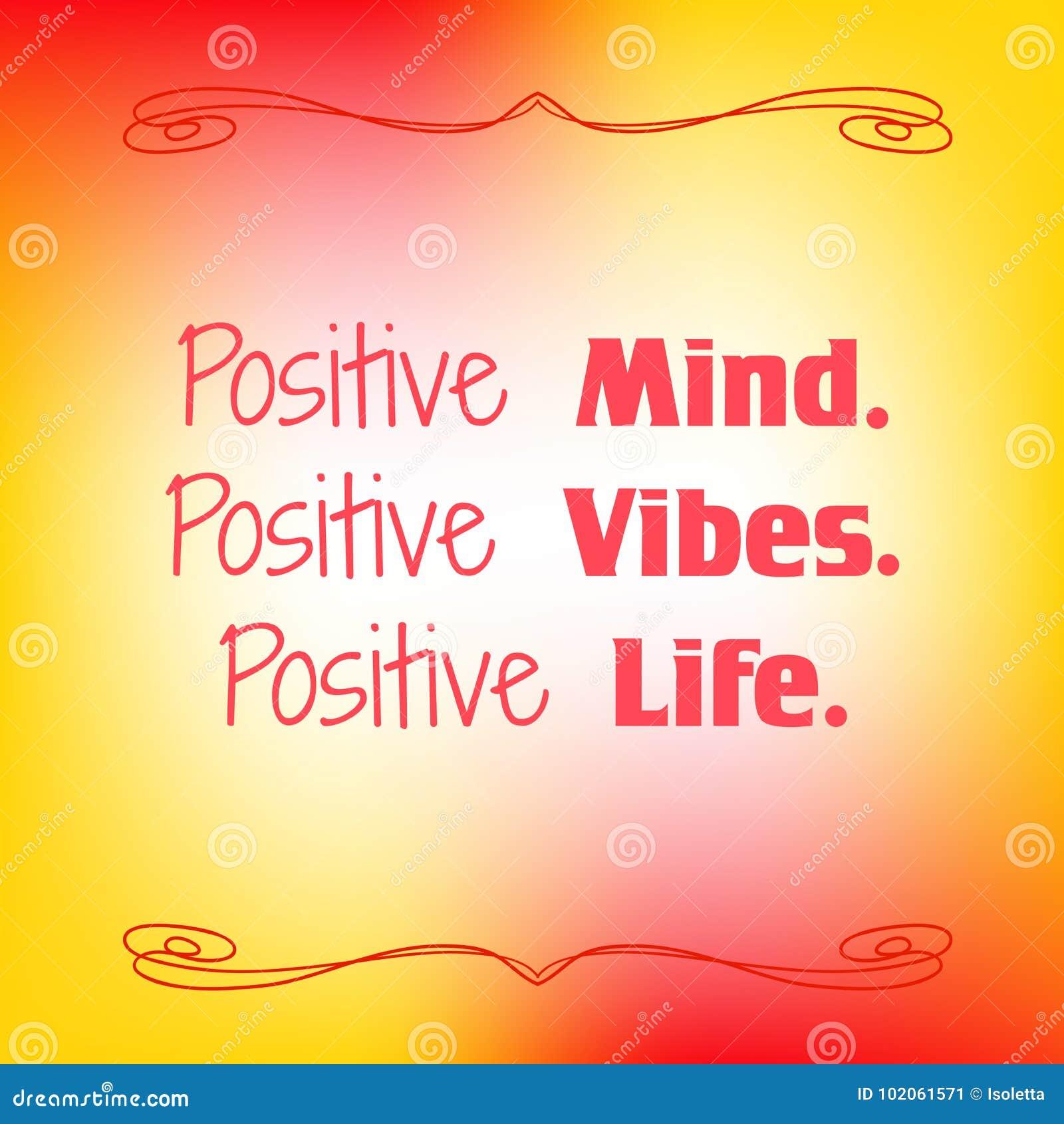 Esprit positif Vibraphone positif La vie positive Citation inspirée sur le fond brouillé coloré Carte décorative