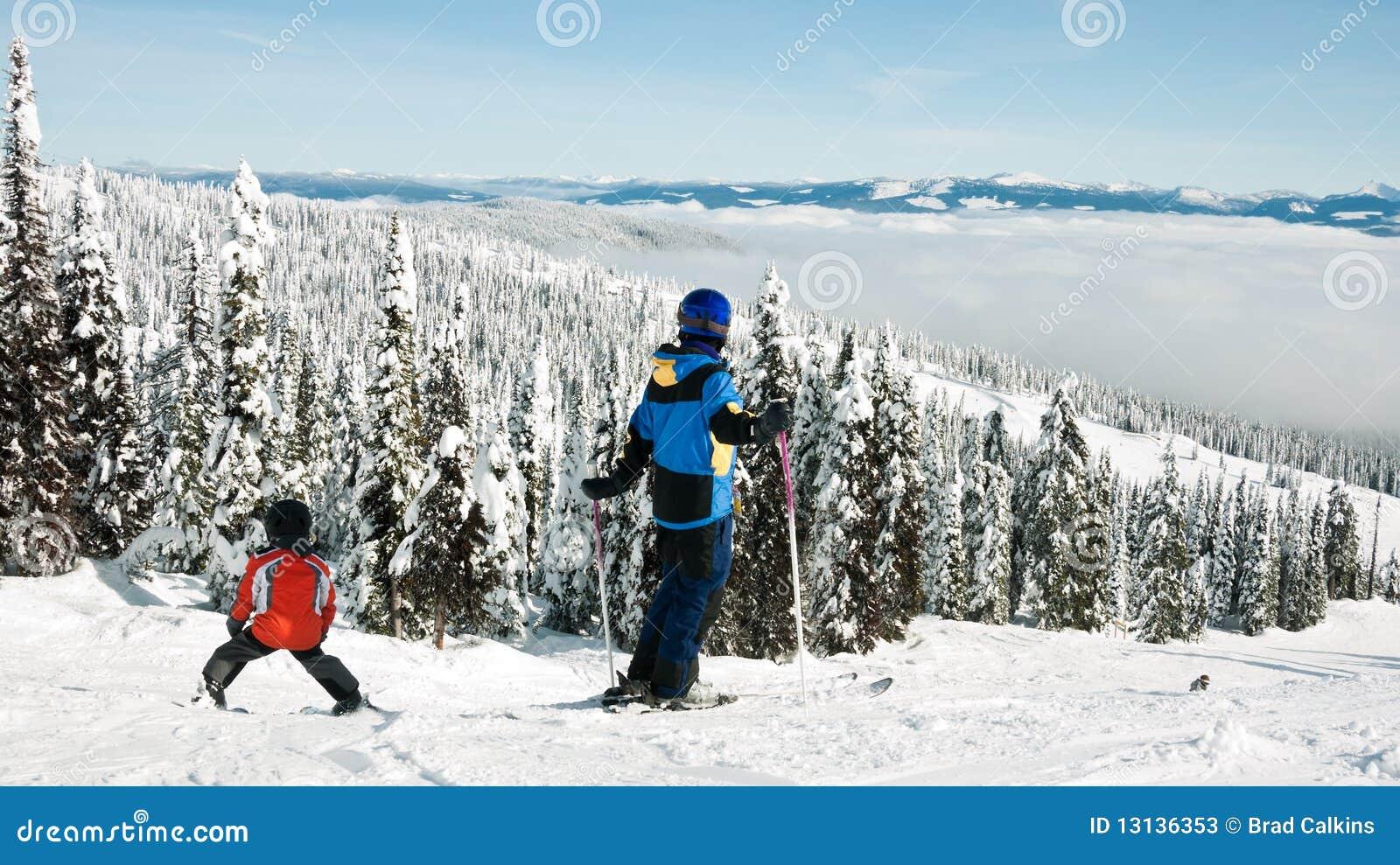 Esquí de la familia