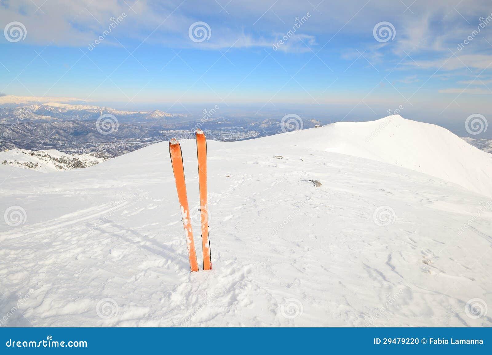Esquí de la zona remota