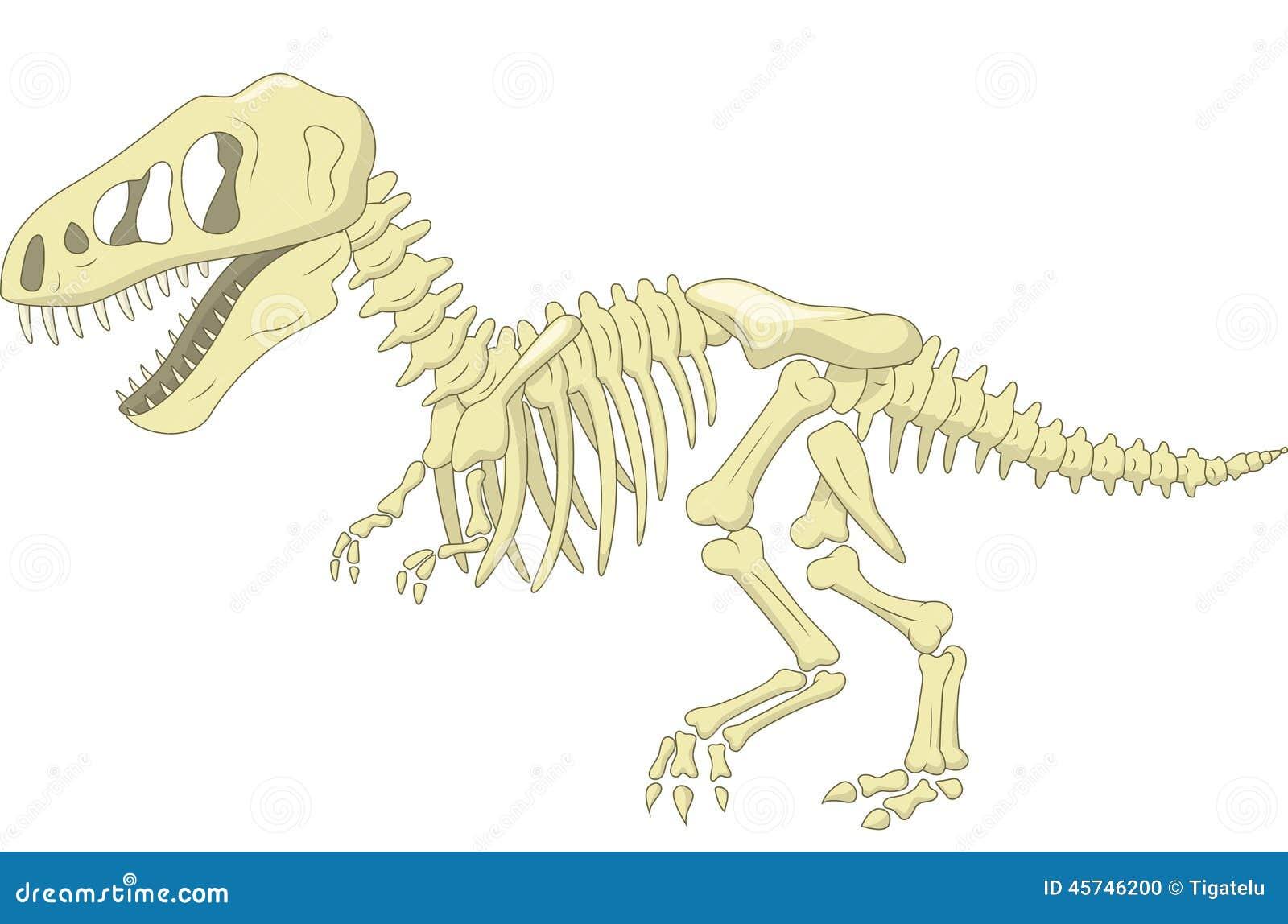 Esqueleto Do Dinossauro Dos Desenhos Animados Ilustracao
