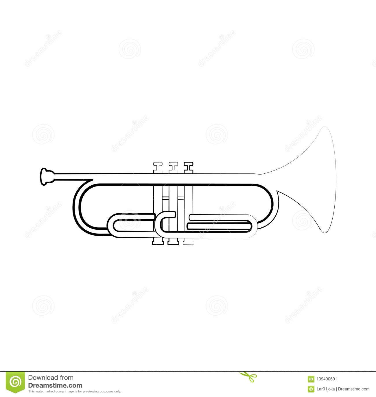 Esquema aislado del cucurucho Instrumento musical