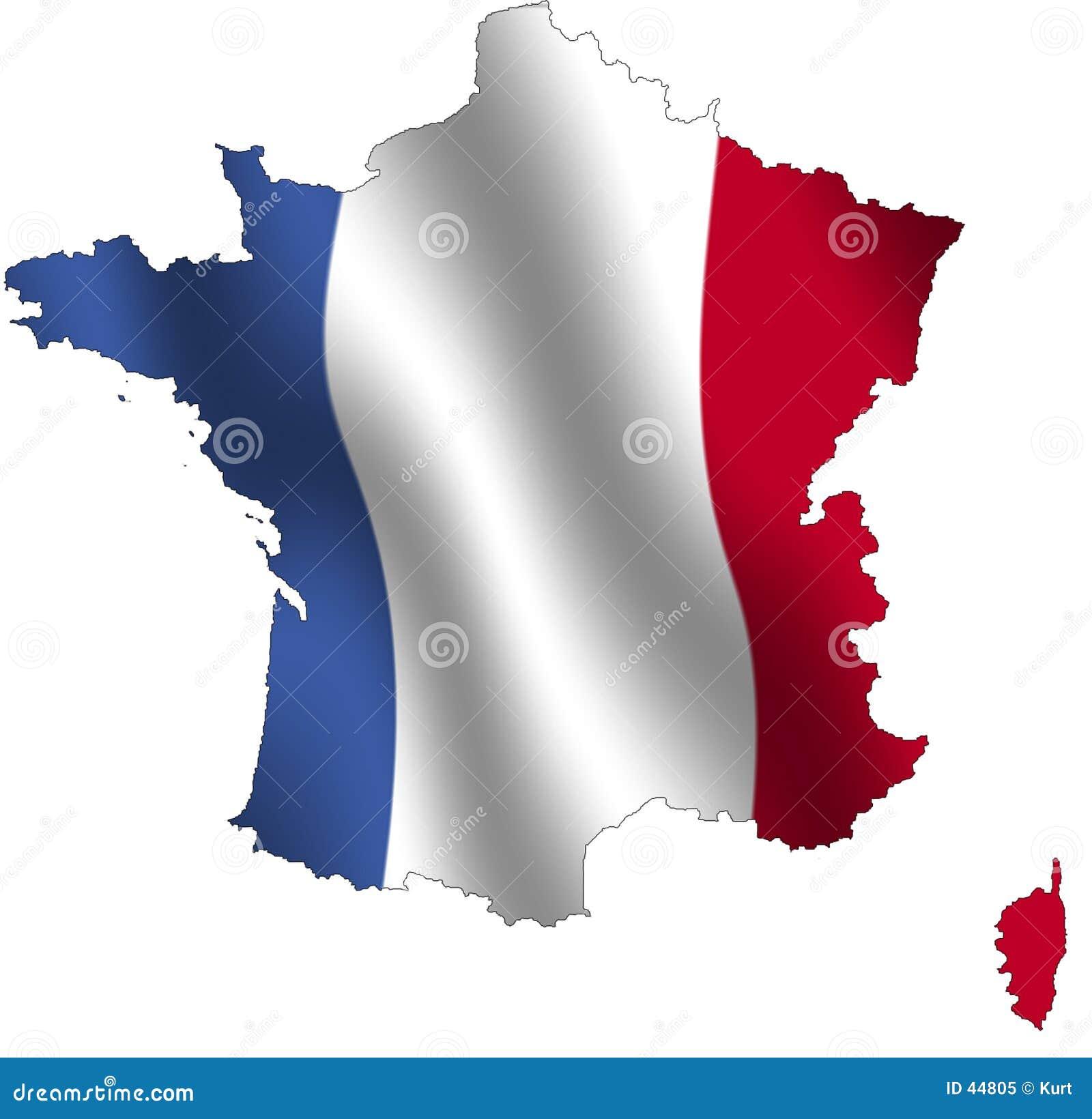 Download Esquema de Francia stock de ilustración. Ilustración de país - 44805