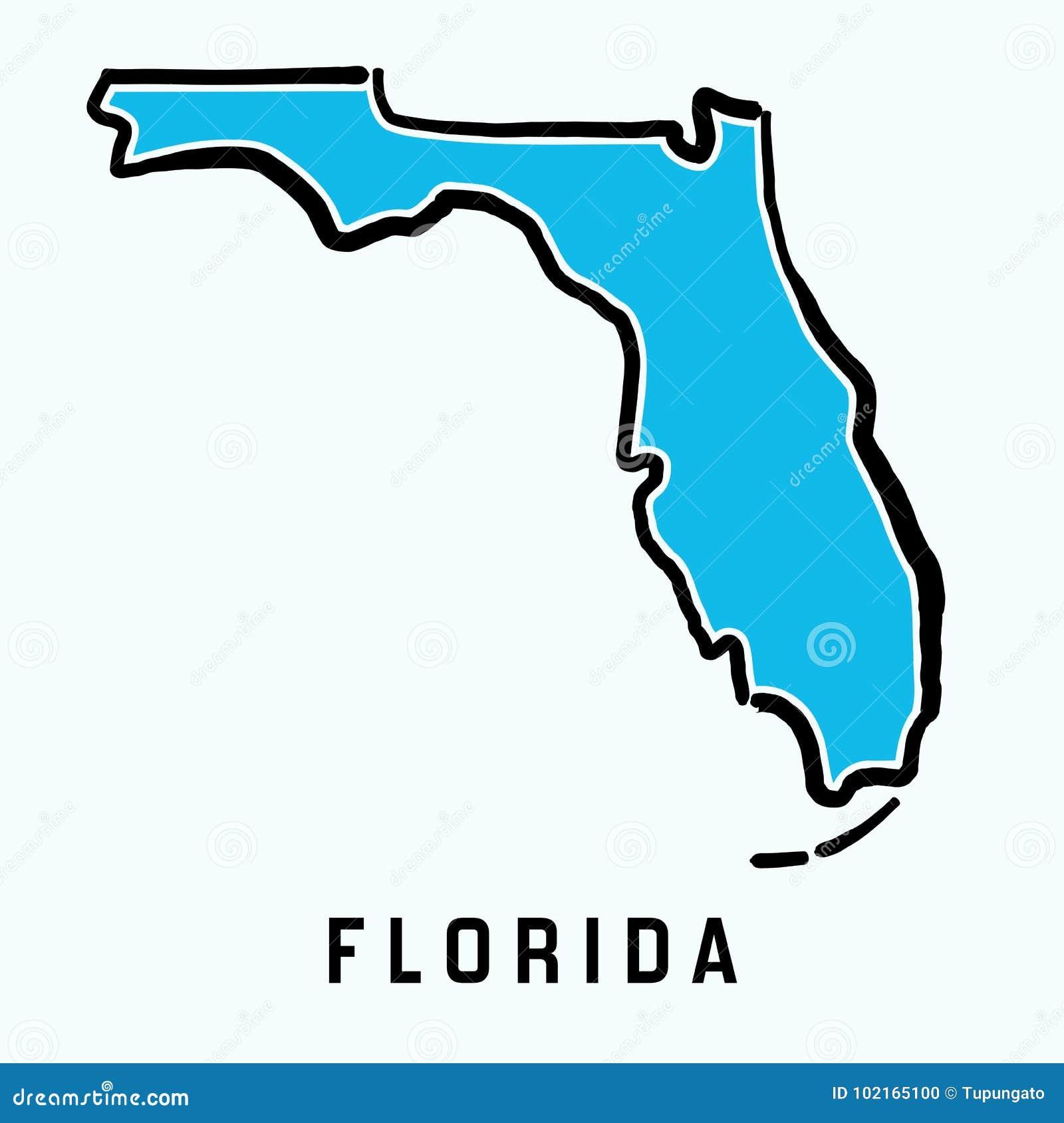 Esquema del mapa de la Florida