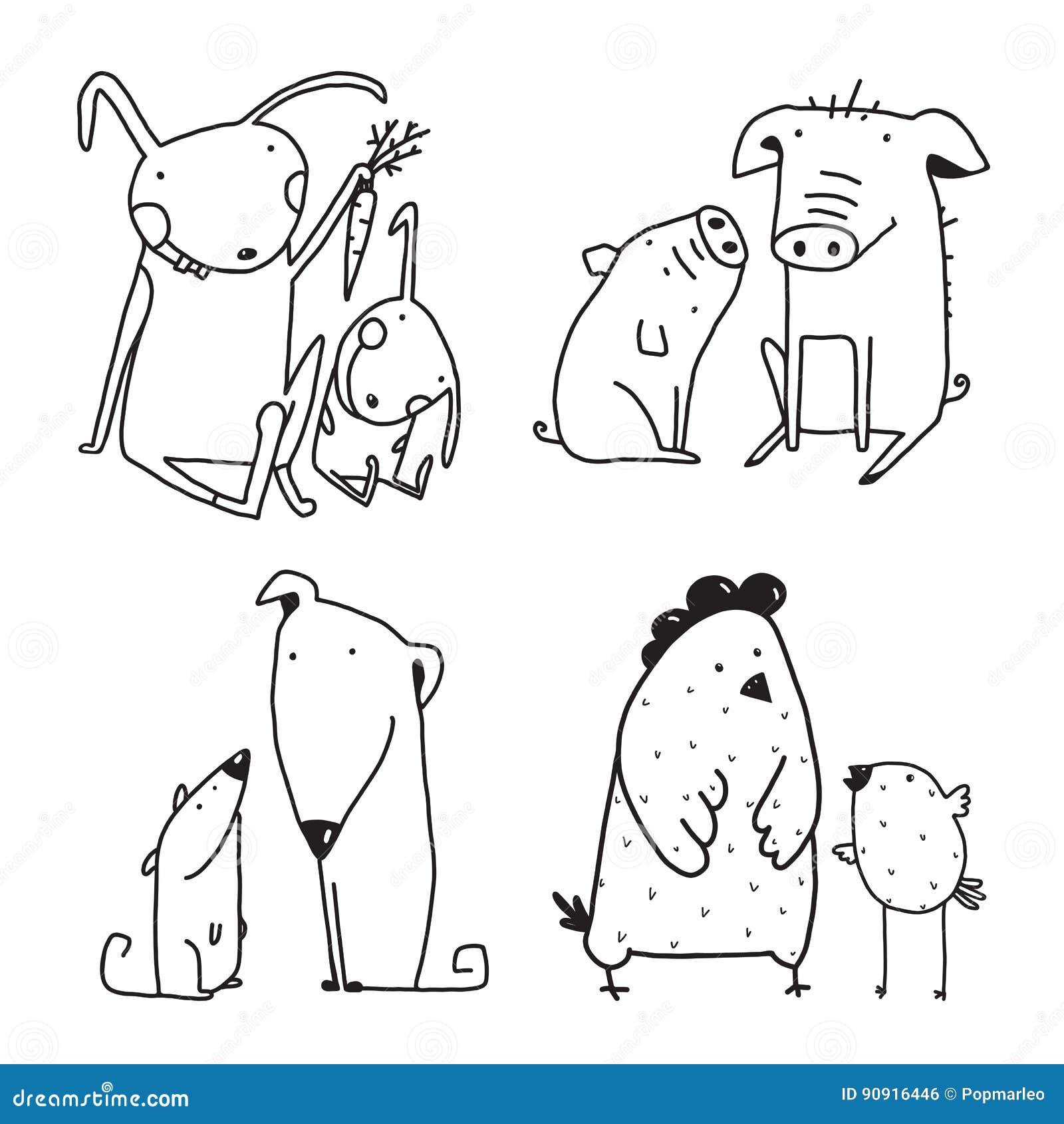 Esquema Infantil Del Clip Art De La Historieta De La Familia Del ...