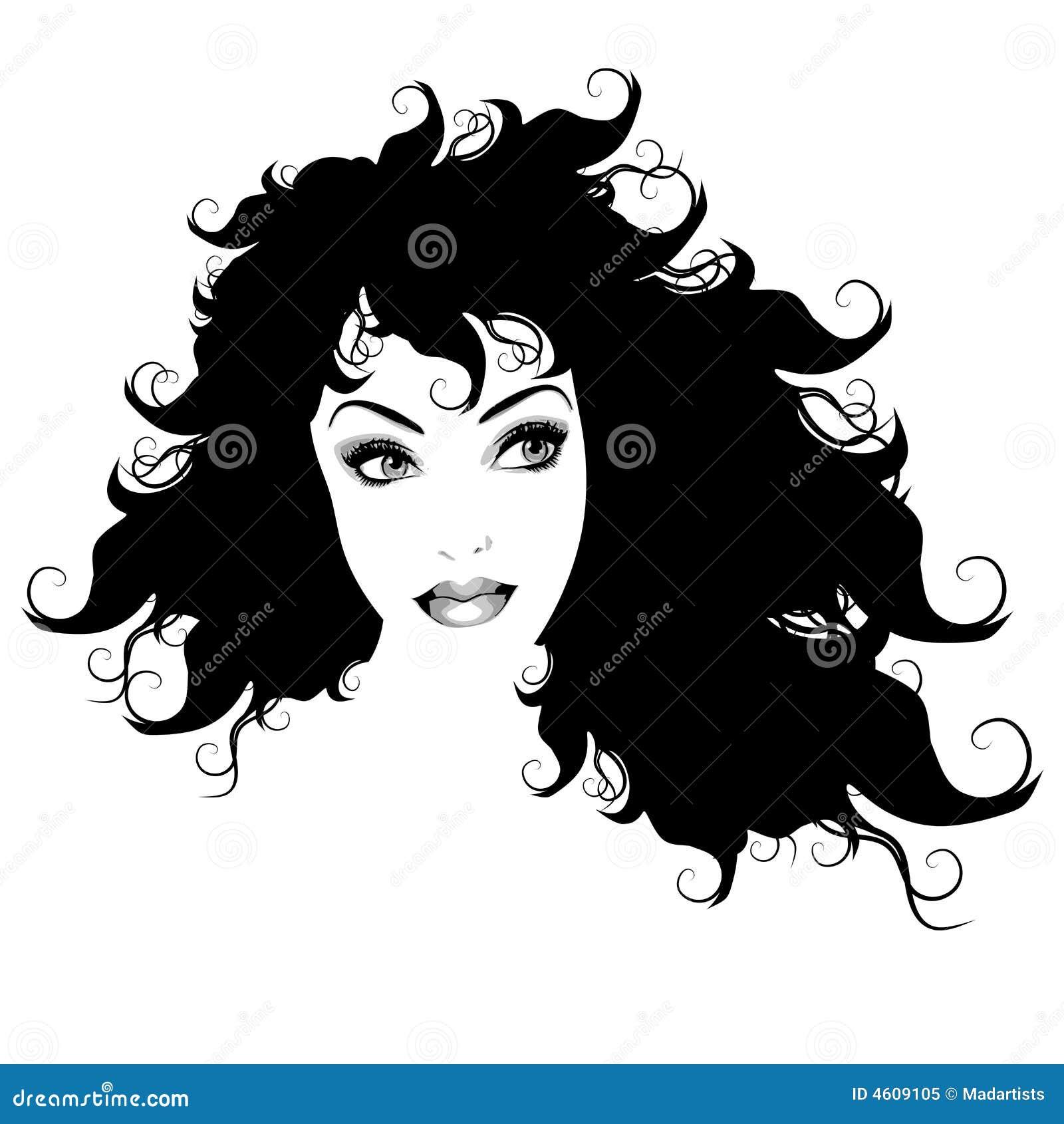 Esquema largo 2 del pelo de la mujer