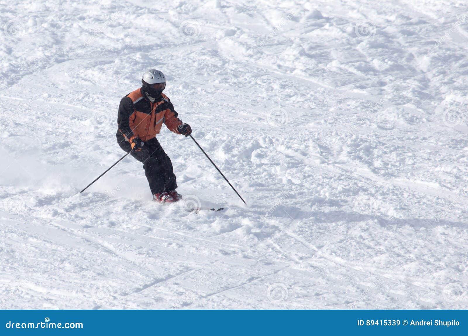 Esqui do esquiador