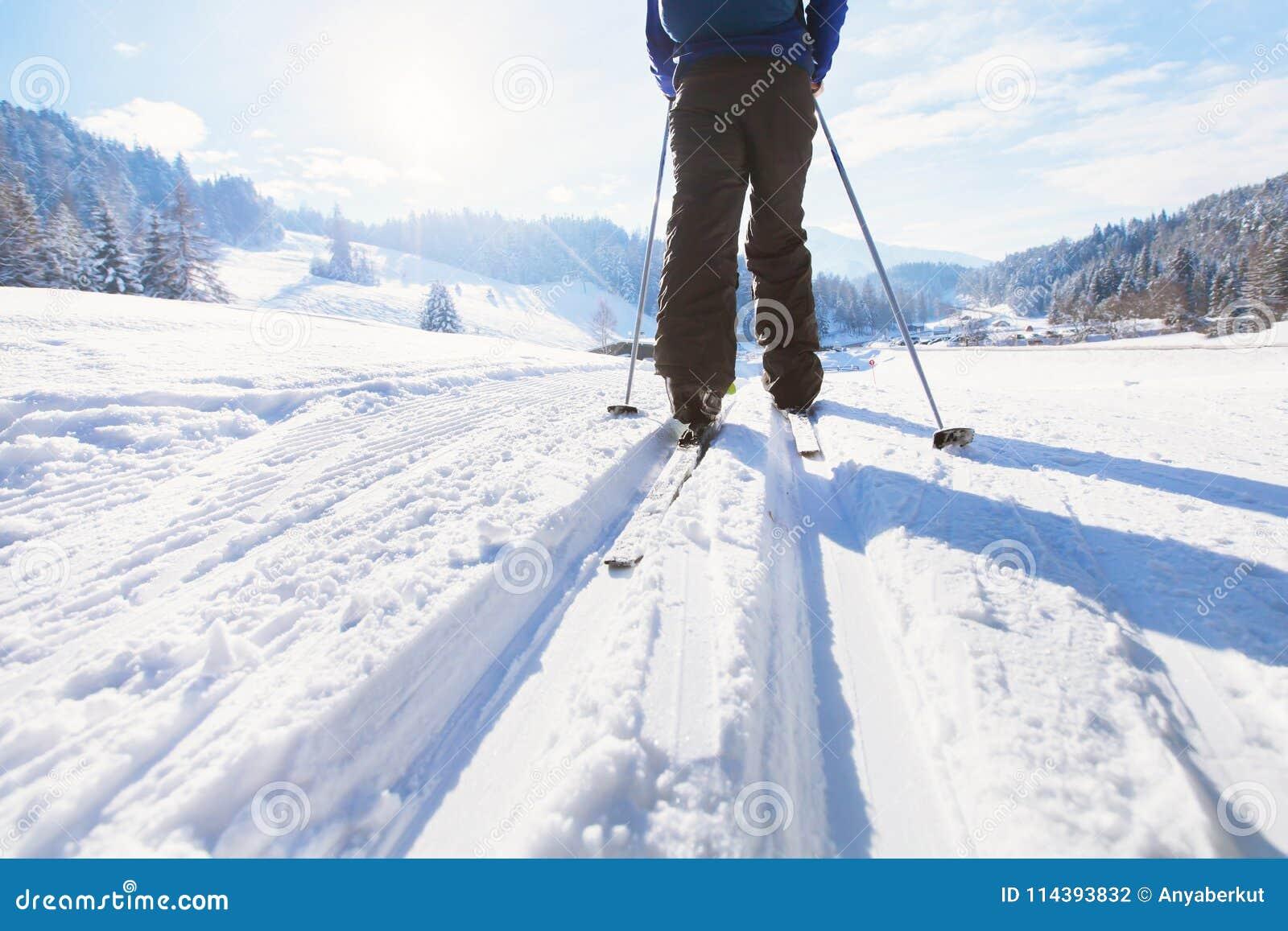 Esqui no inverno