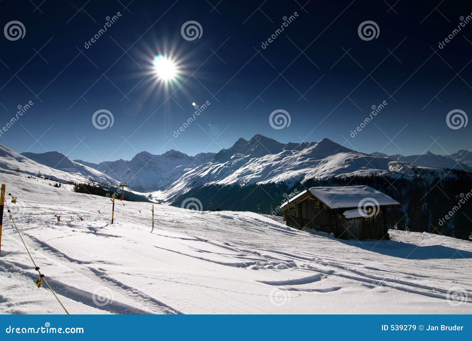 Esqui nos alpes suíços