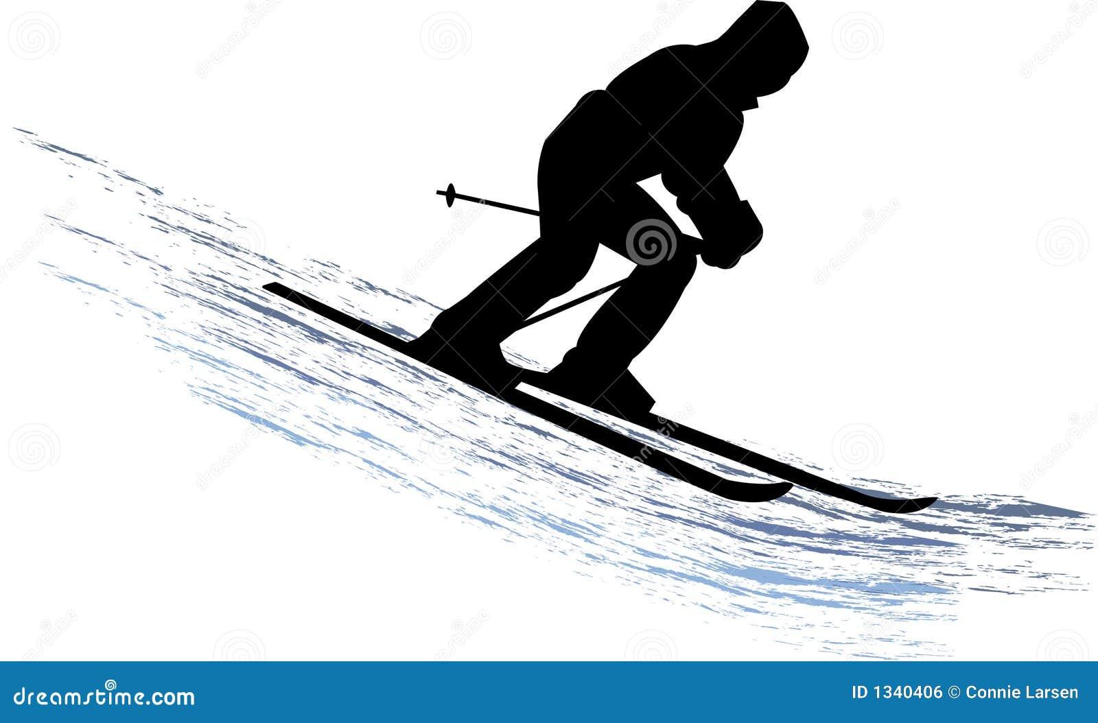 Esquiador da neve