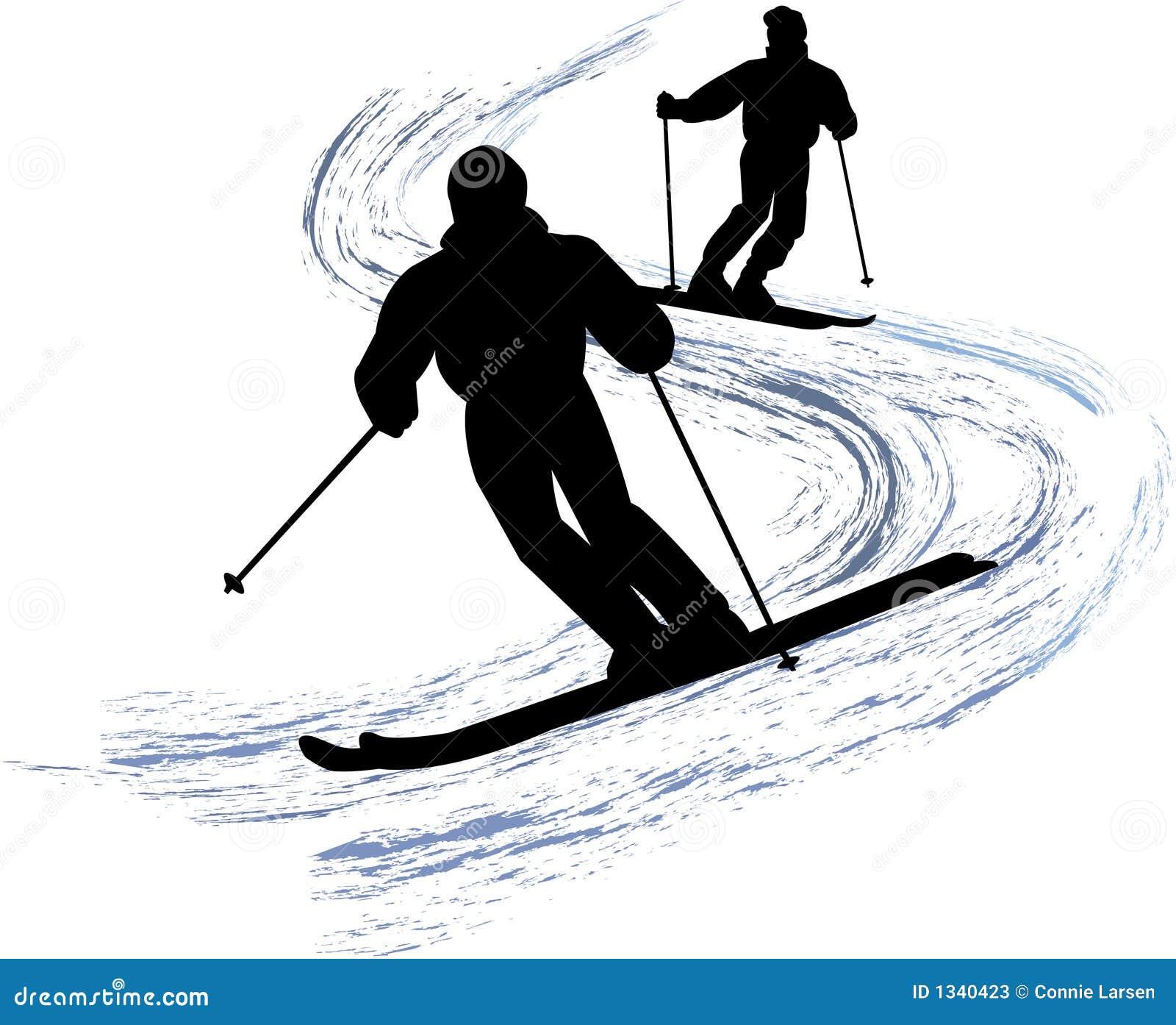 Esquiadores da neve/eps