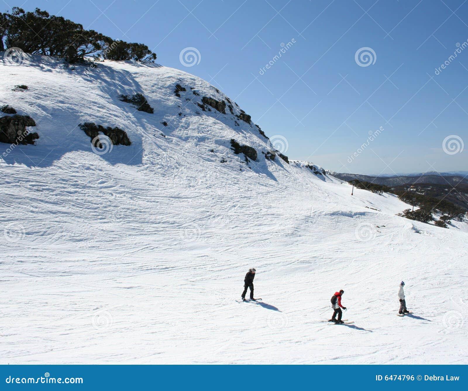 Esquiando en Victoria, Australia