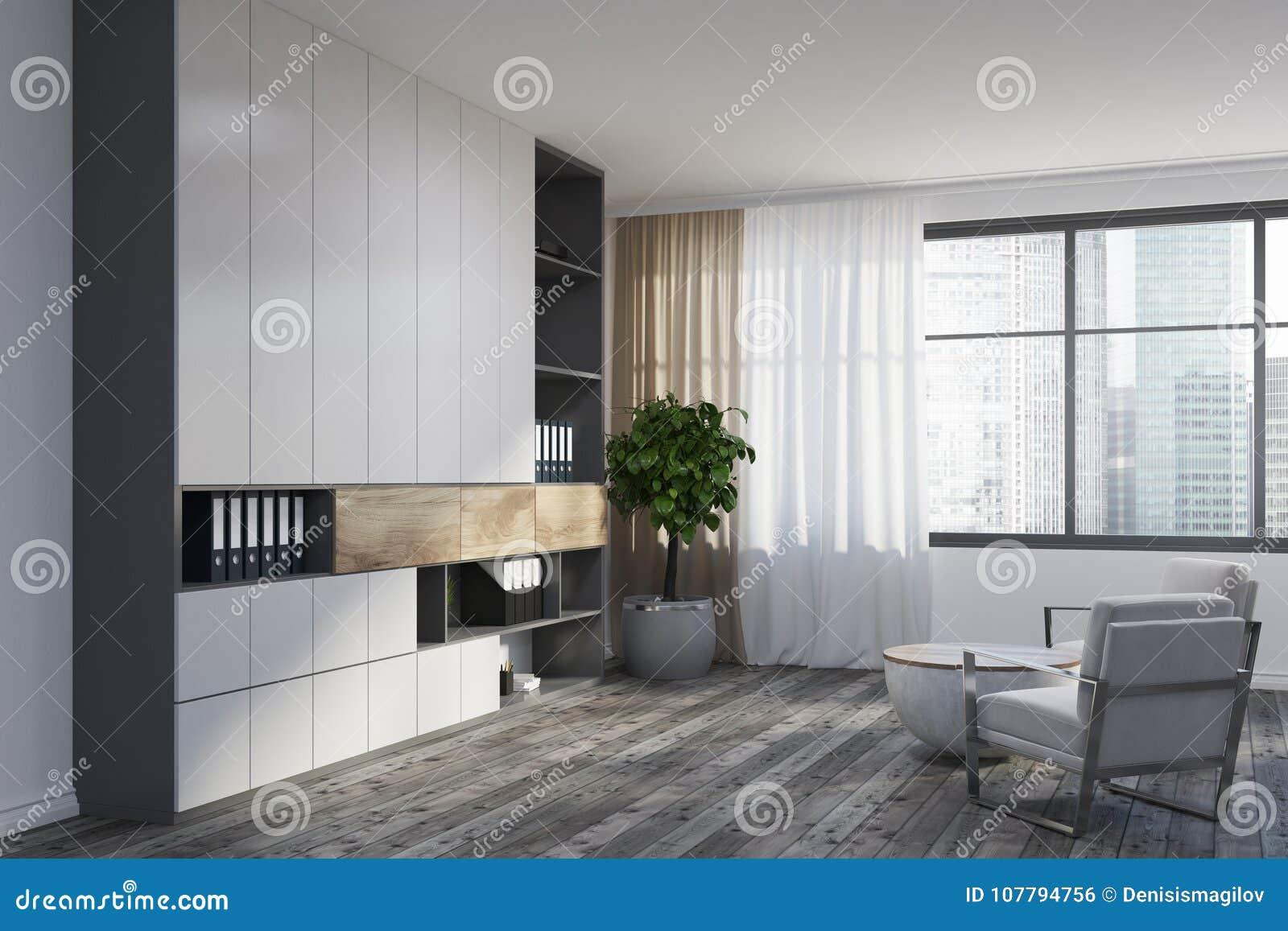 muebles de esquina para sala de estar Esquina Blanca De La Sala De Estar Butacas Blancas Stock De